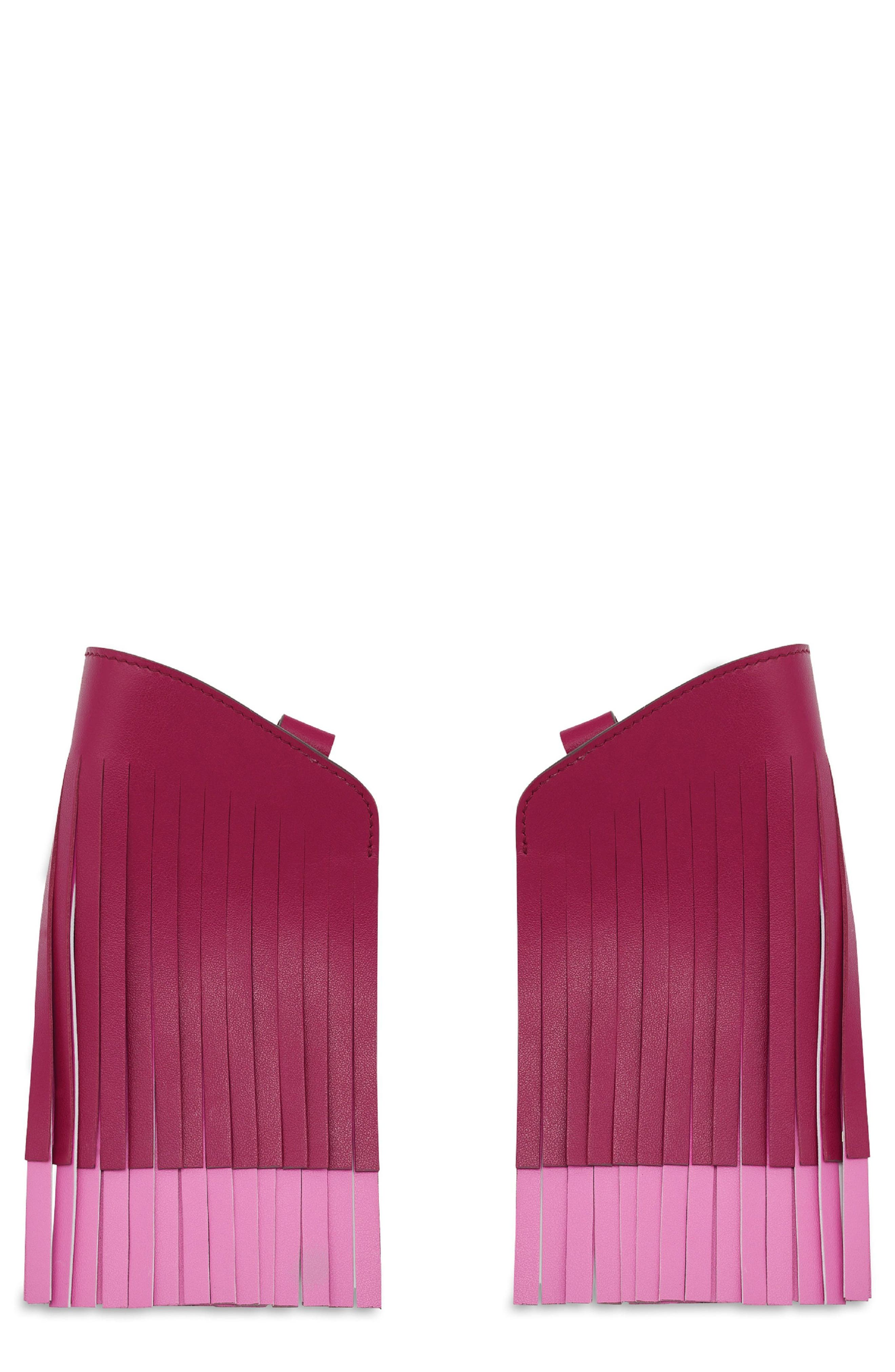 Build a Bag Fringe Leather Panels,                             Main thumbnail 1, color,                             Raspberry