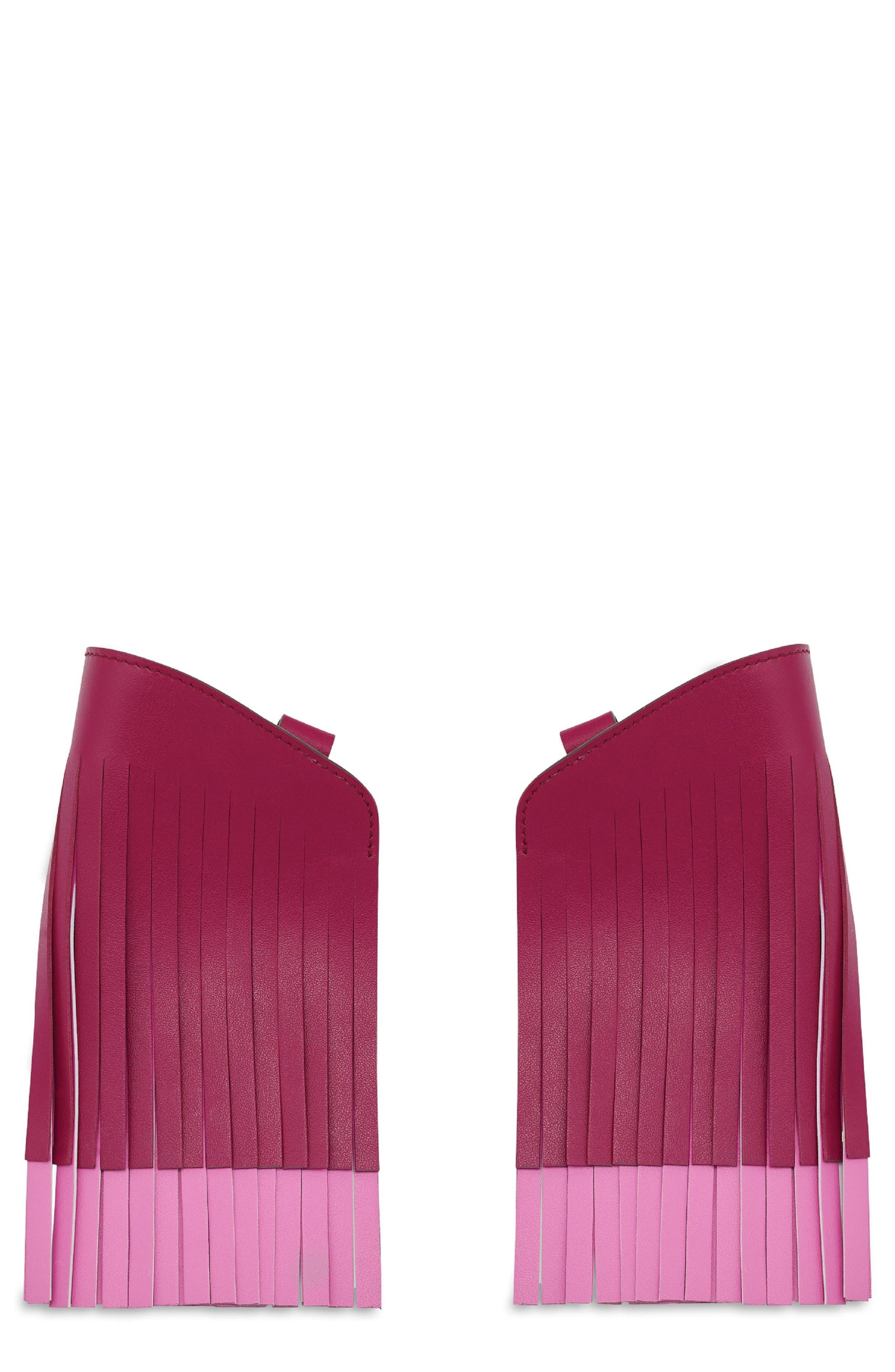 Build a Bag Fringe Leather Panels,                         Main,                         color, Raspberry