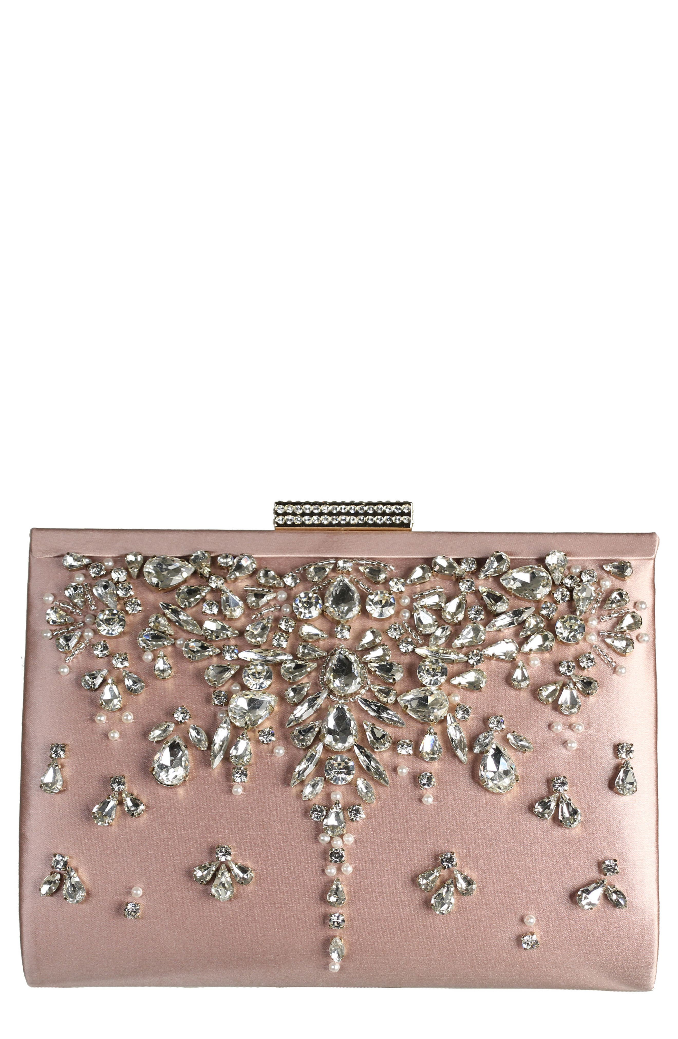 Adele Frame Clutch,                             Main thumbnail 1, color,                             Blush