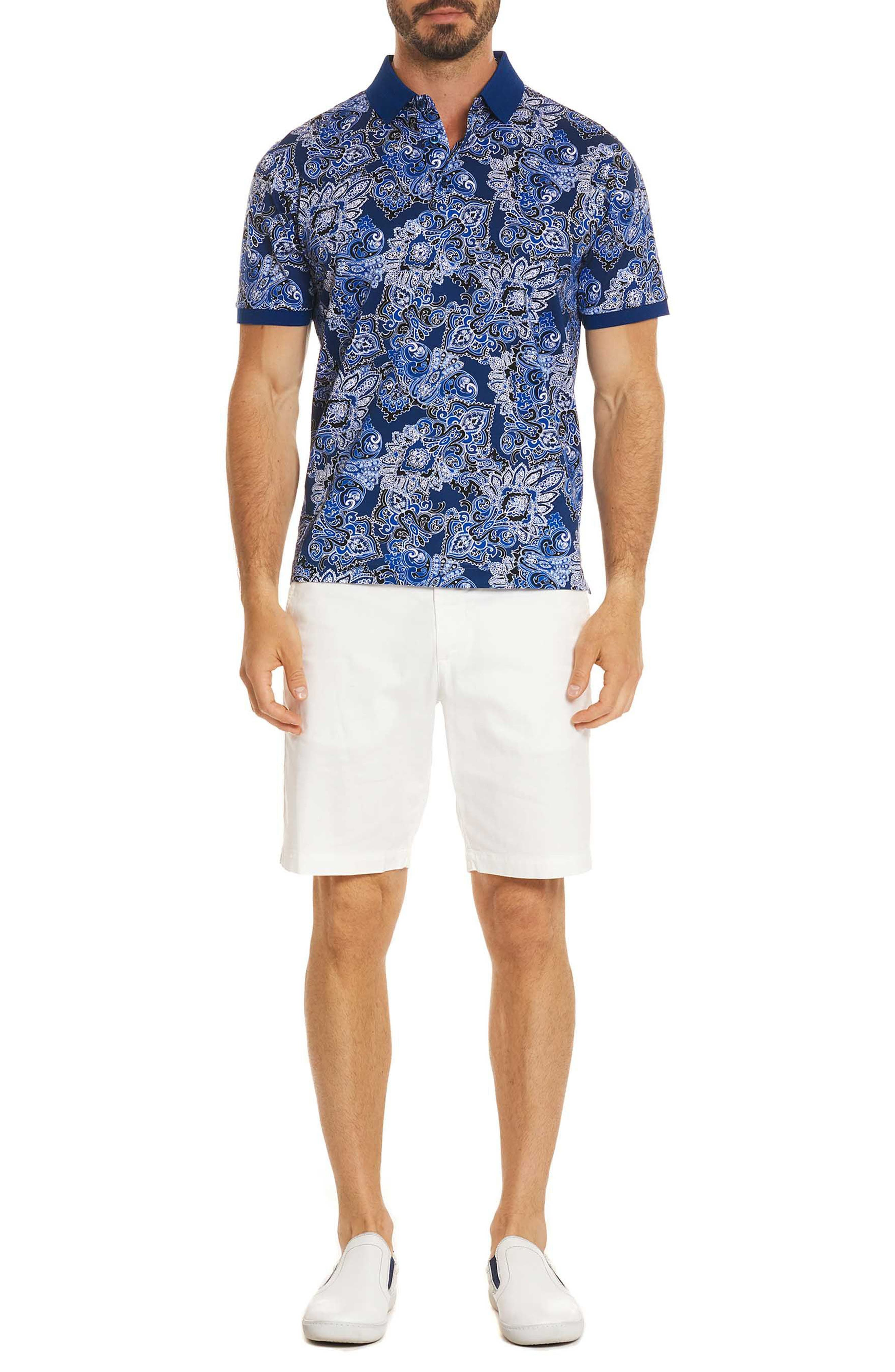 Maurie Classic Fit Polo,                             Alternate thumbnail 5, color,                             Blue