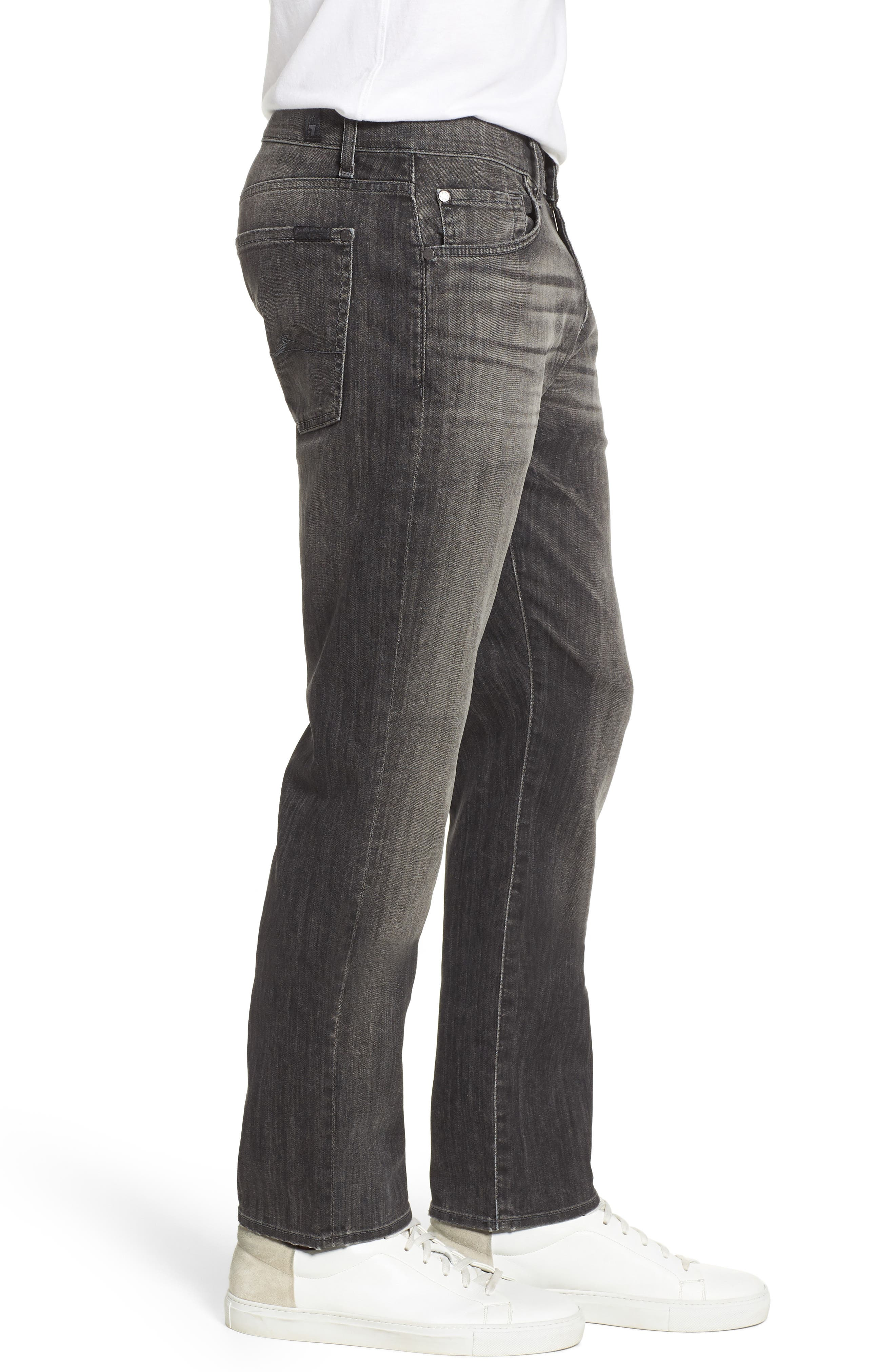 Alternate Image 3  - 7 For All Mankind® The Straight Slim Straight Leg Jeans (Halide Grey)