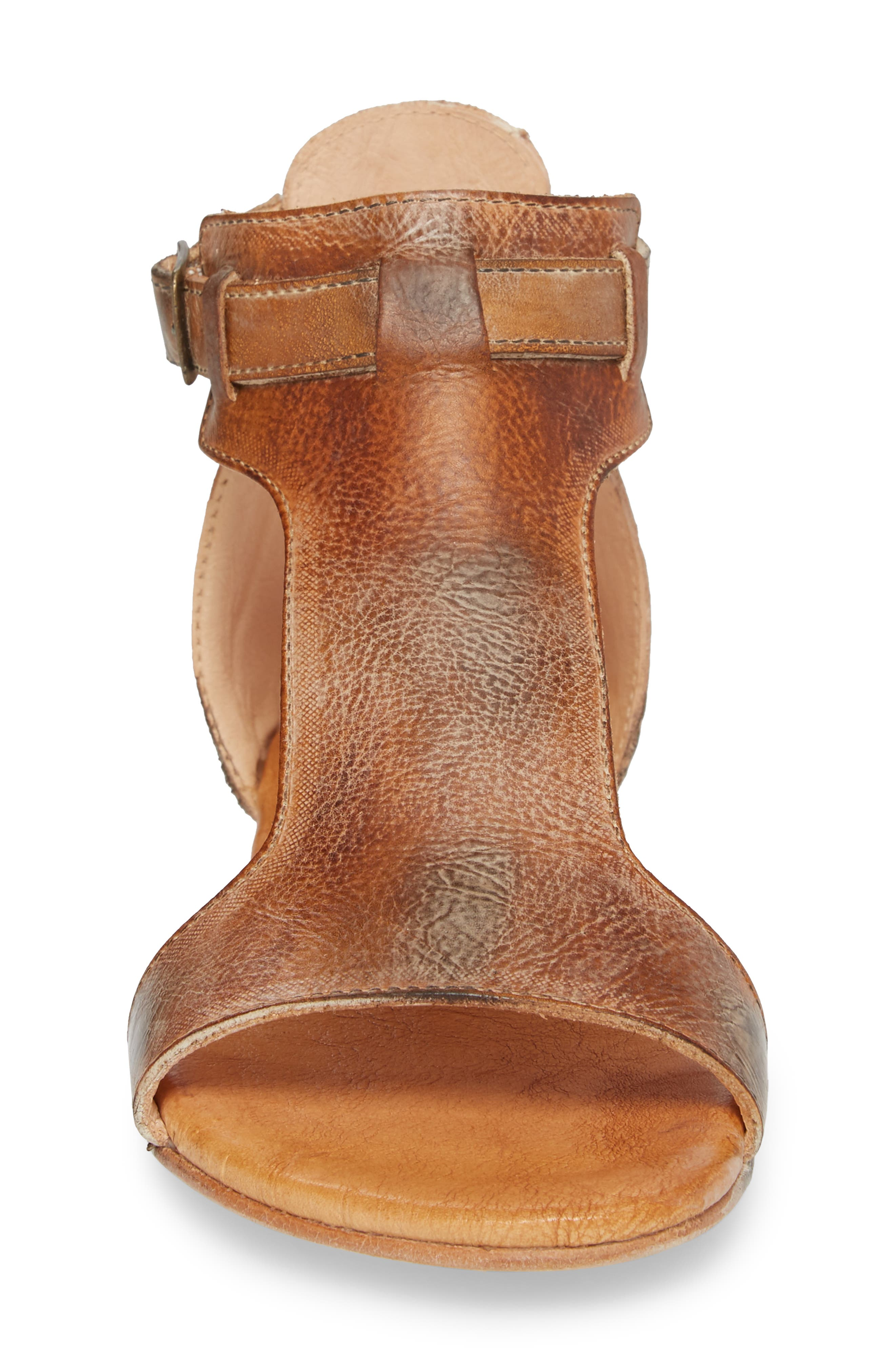 Sable Sandal,                             Alternate thumbnail 4, color,                             Tan/ White Leather