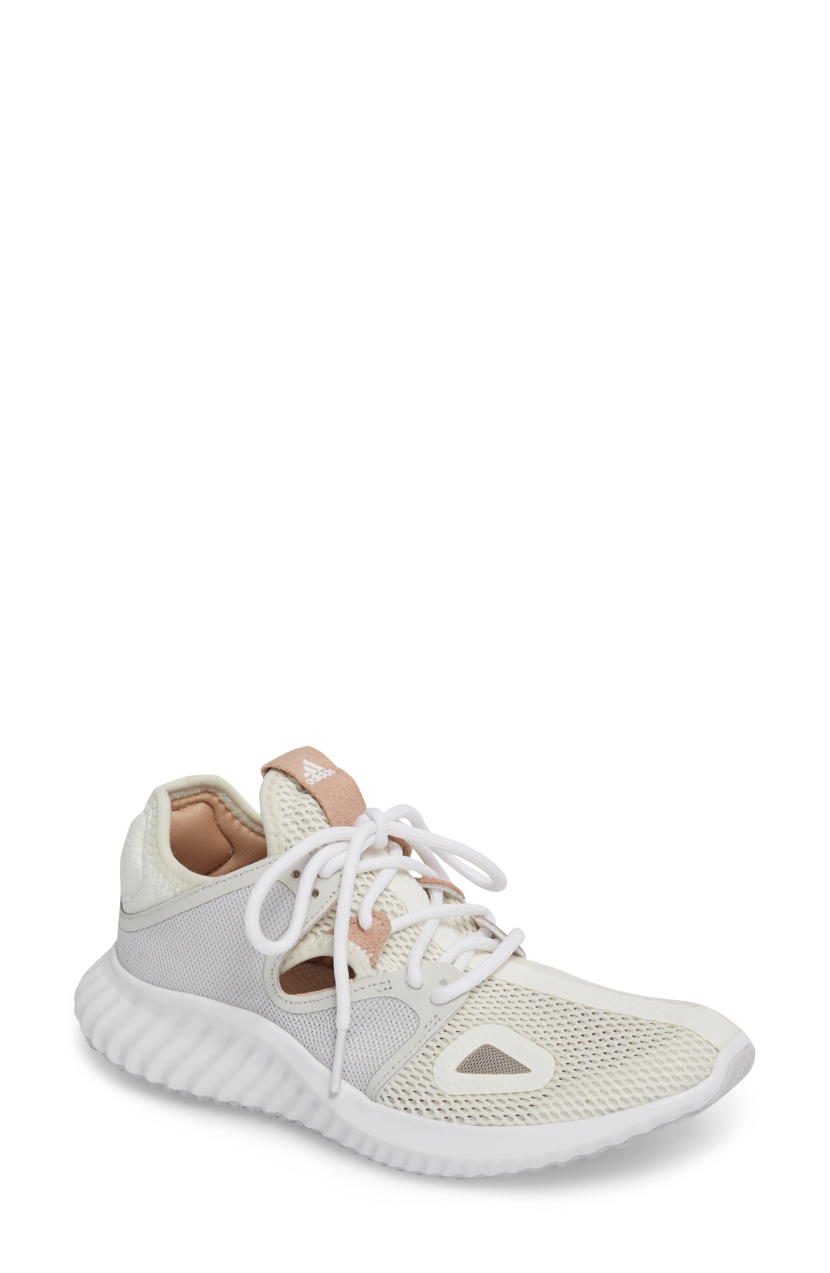 Run Lux Clima Running Shoe,                             Main thumbnail 1, color,                             Off White / Grey