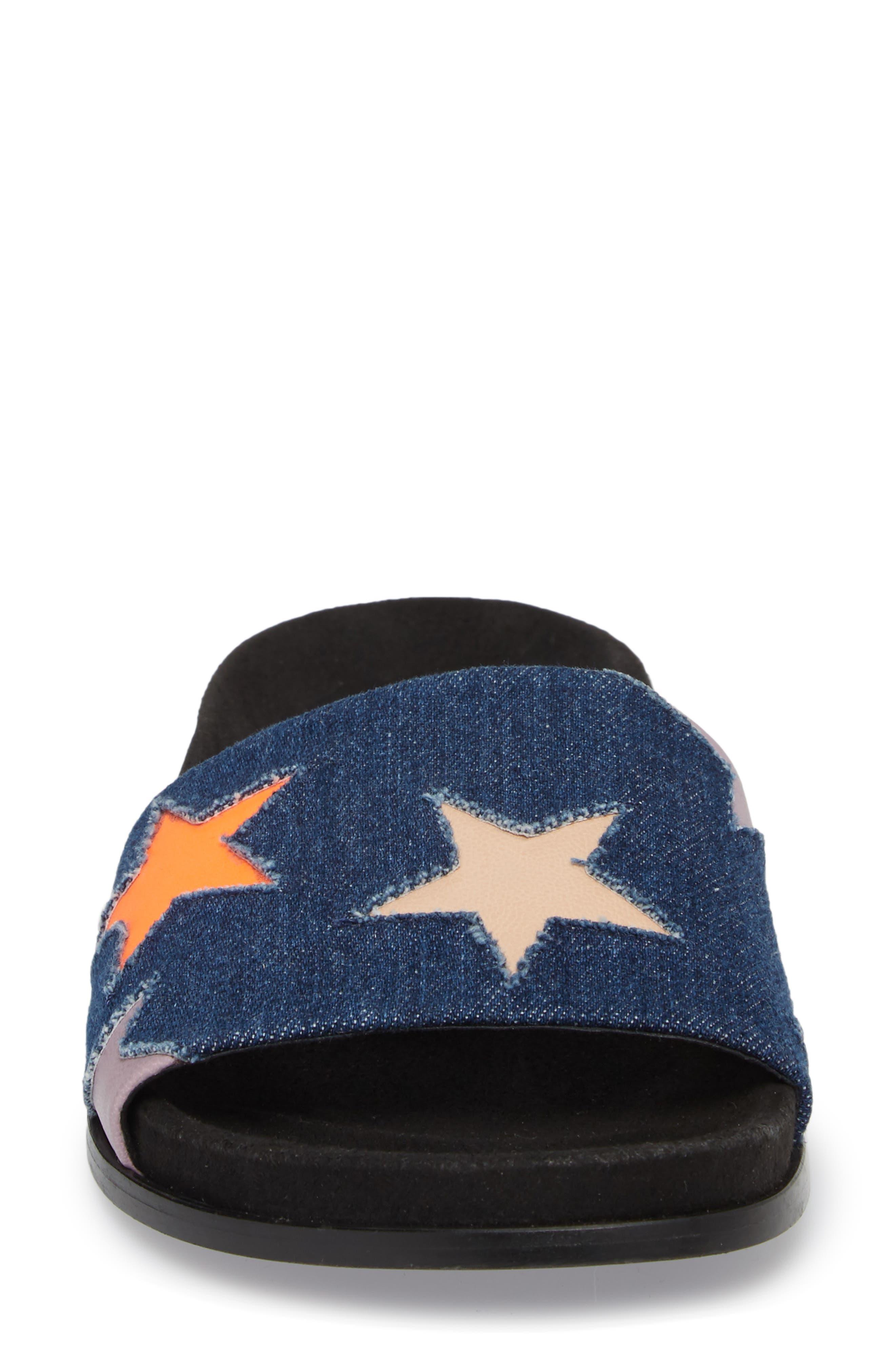 Star Slide Sandal,                             Alternate thumbnail 5, color,                             Navy