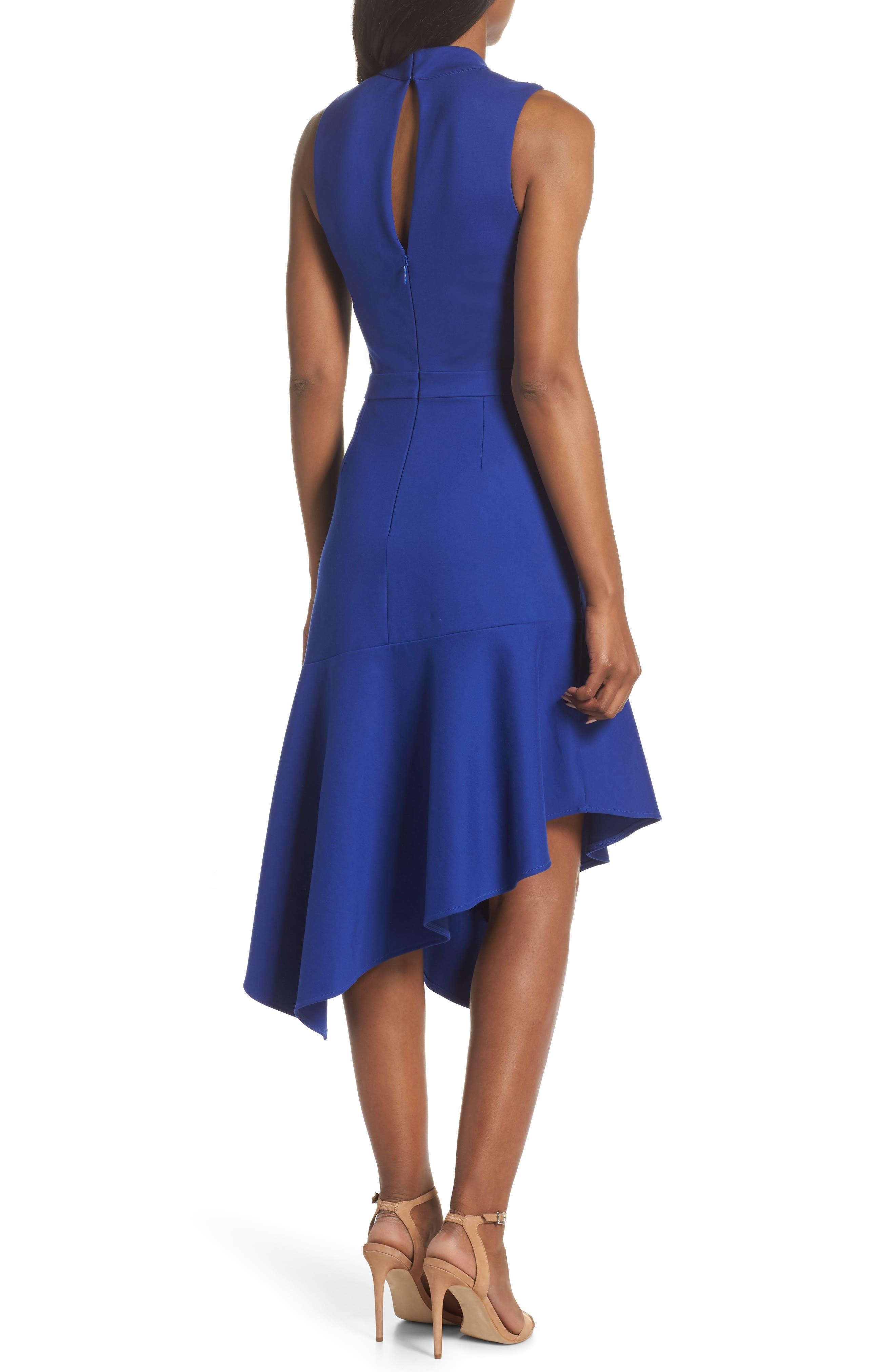 Nessa Ponte Midi Dress,                             Alternate thumbnail 2, color,                             Cobalt