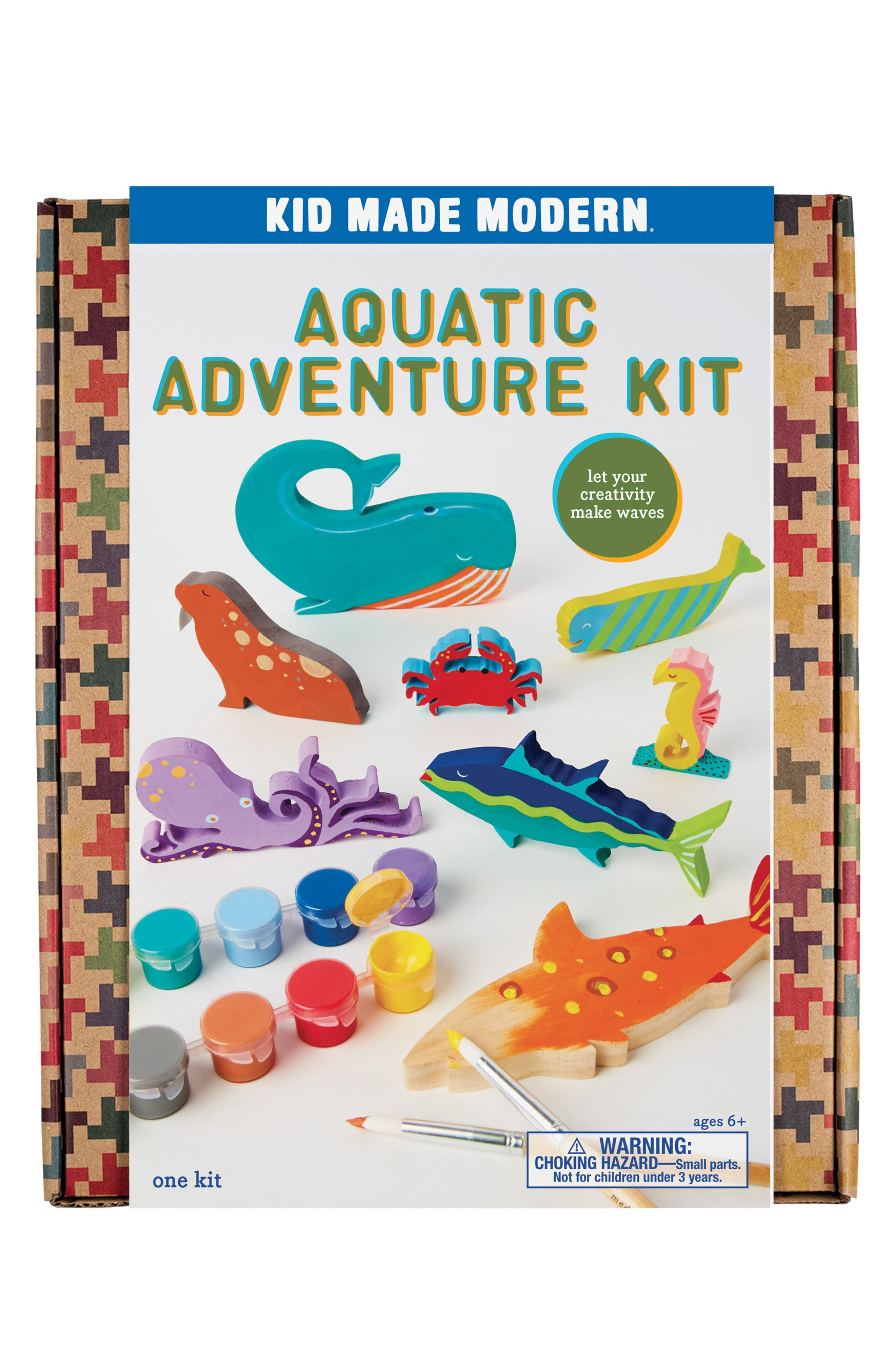 12-Piece Aquatic Adventure Toy Painting Kit,                         Main,                         color, Blue