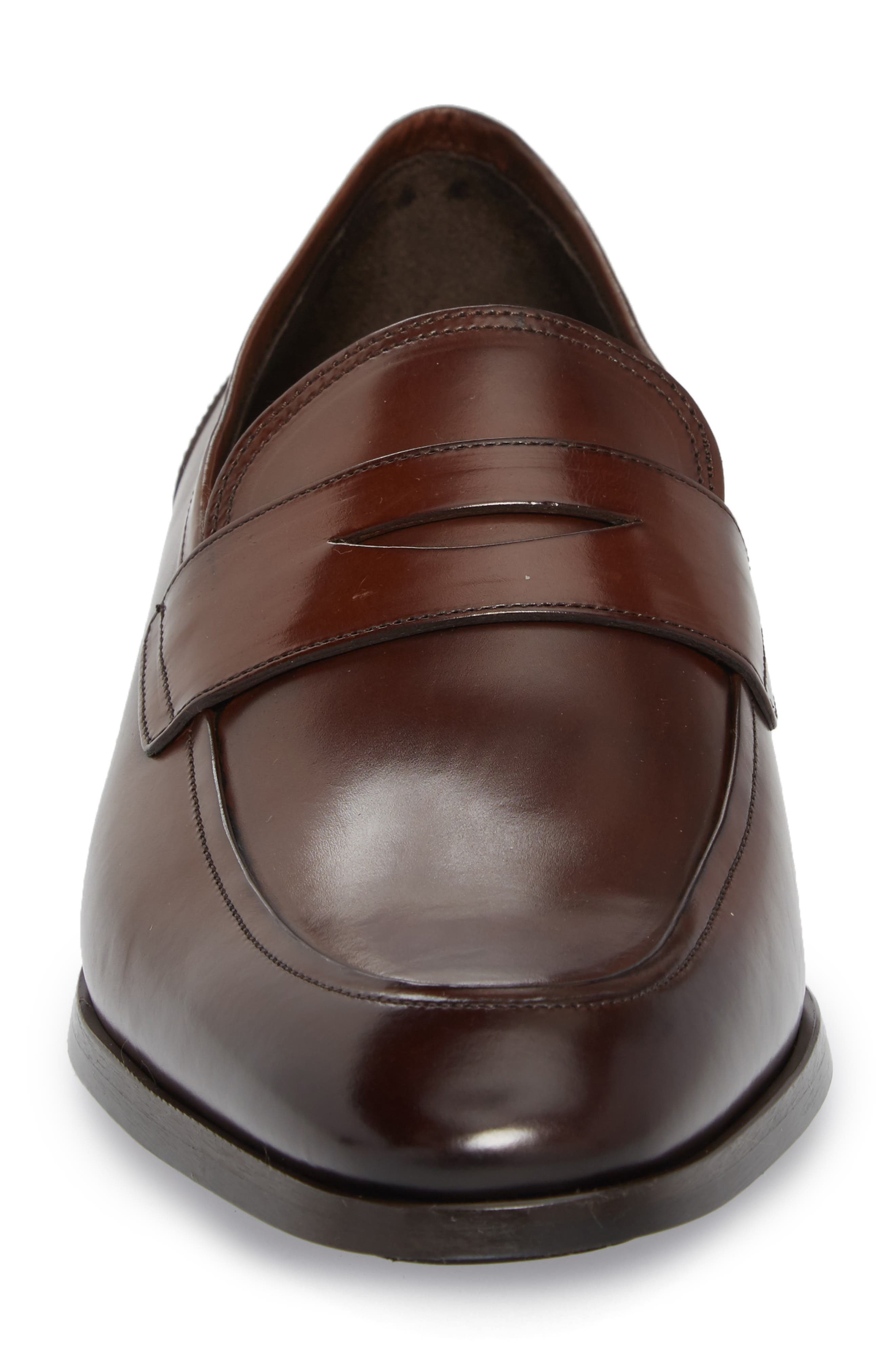 Deane Penny Loafer,                             Alternate thumbnail 4, color,                             Marrone Leather