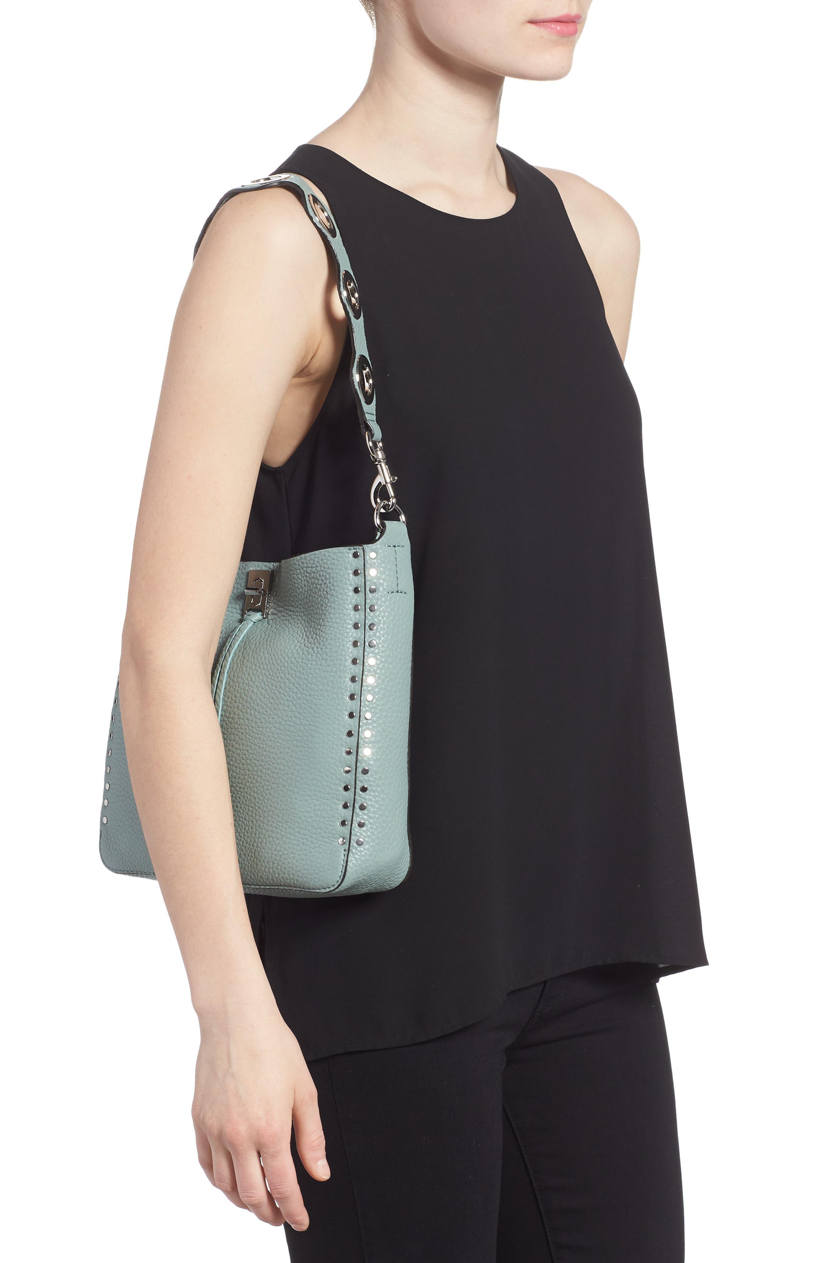Alternate Image 2  - Rebecca Minkoff Small Darren Deerskin Leather Feed Bag