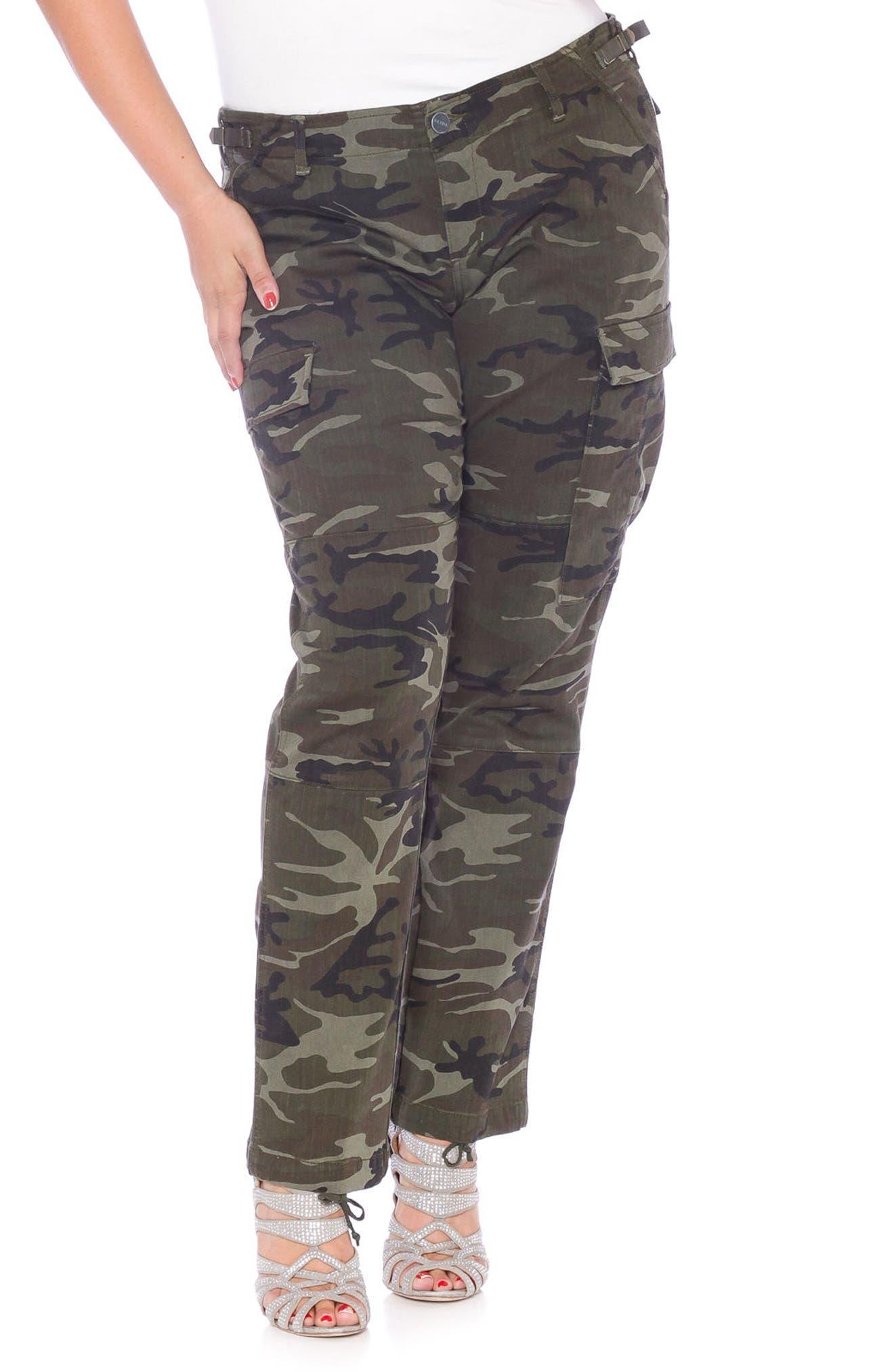 Camo Twill Cargo Pants,                         Main,                         color, Olive Camo