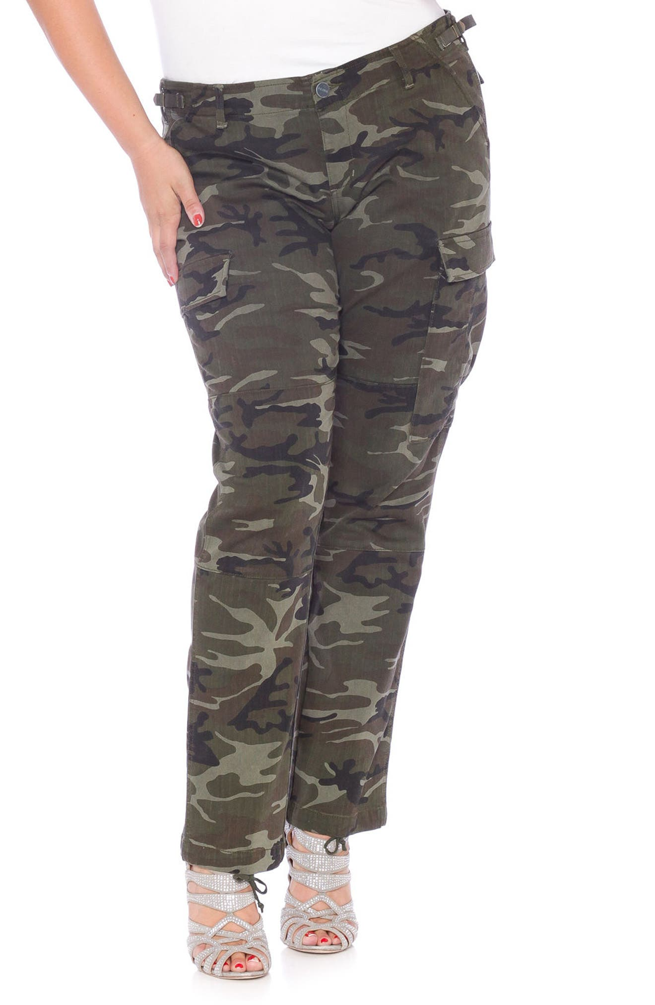 SLINK Jeans Camo Twill Cargo Pants (Plus Size)