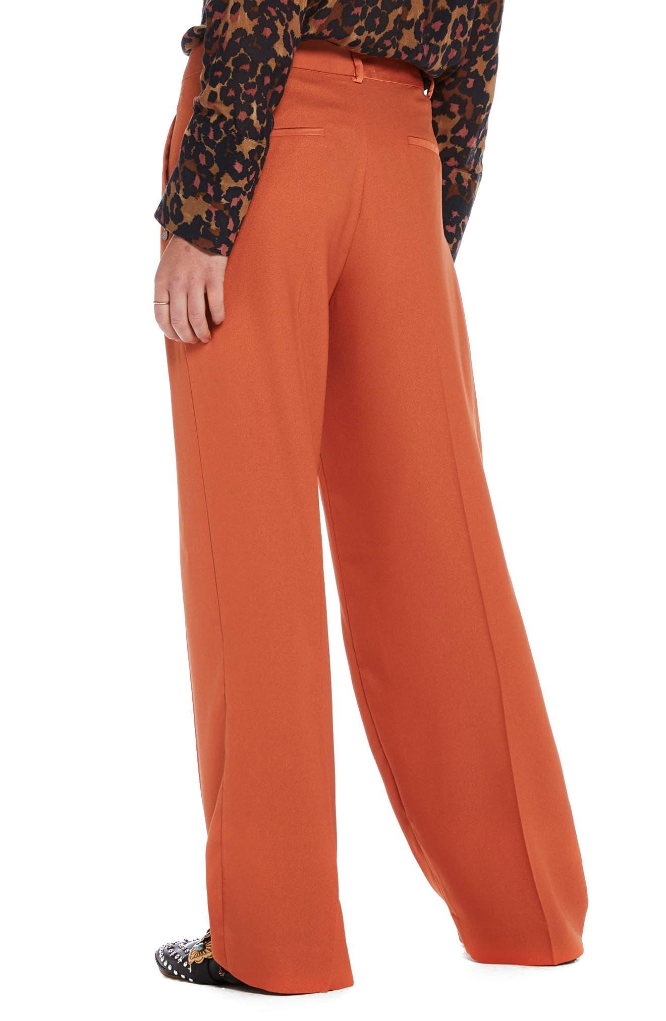 Wide Leg Pants,                             Alternate thumbnail 2, color,                             Color 2018 Tiger Orange
