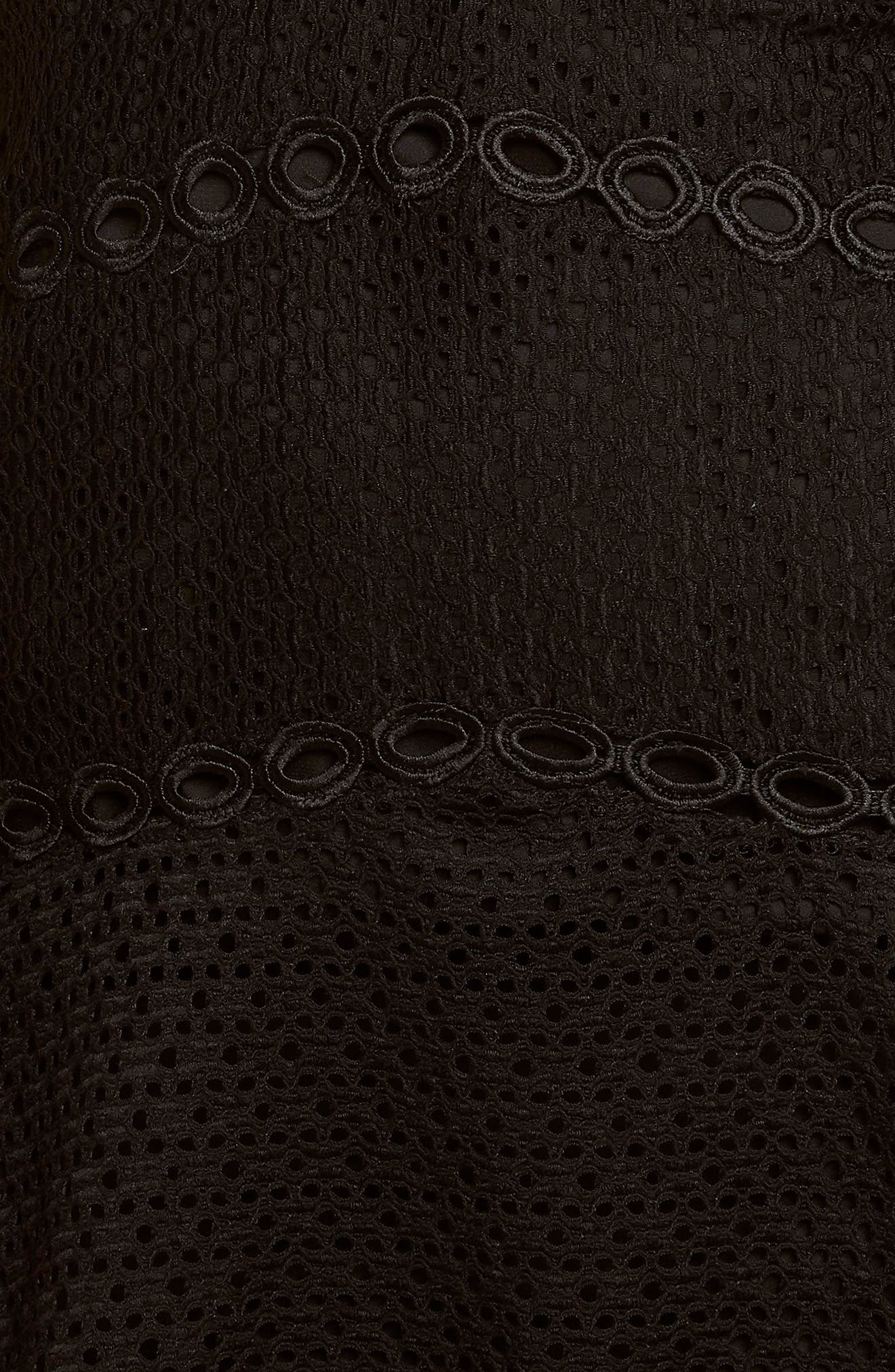 Ariana Fit & Flare Dress,                             Alternate thumbnail 4, color,                             Black