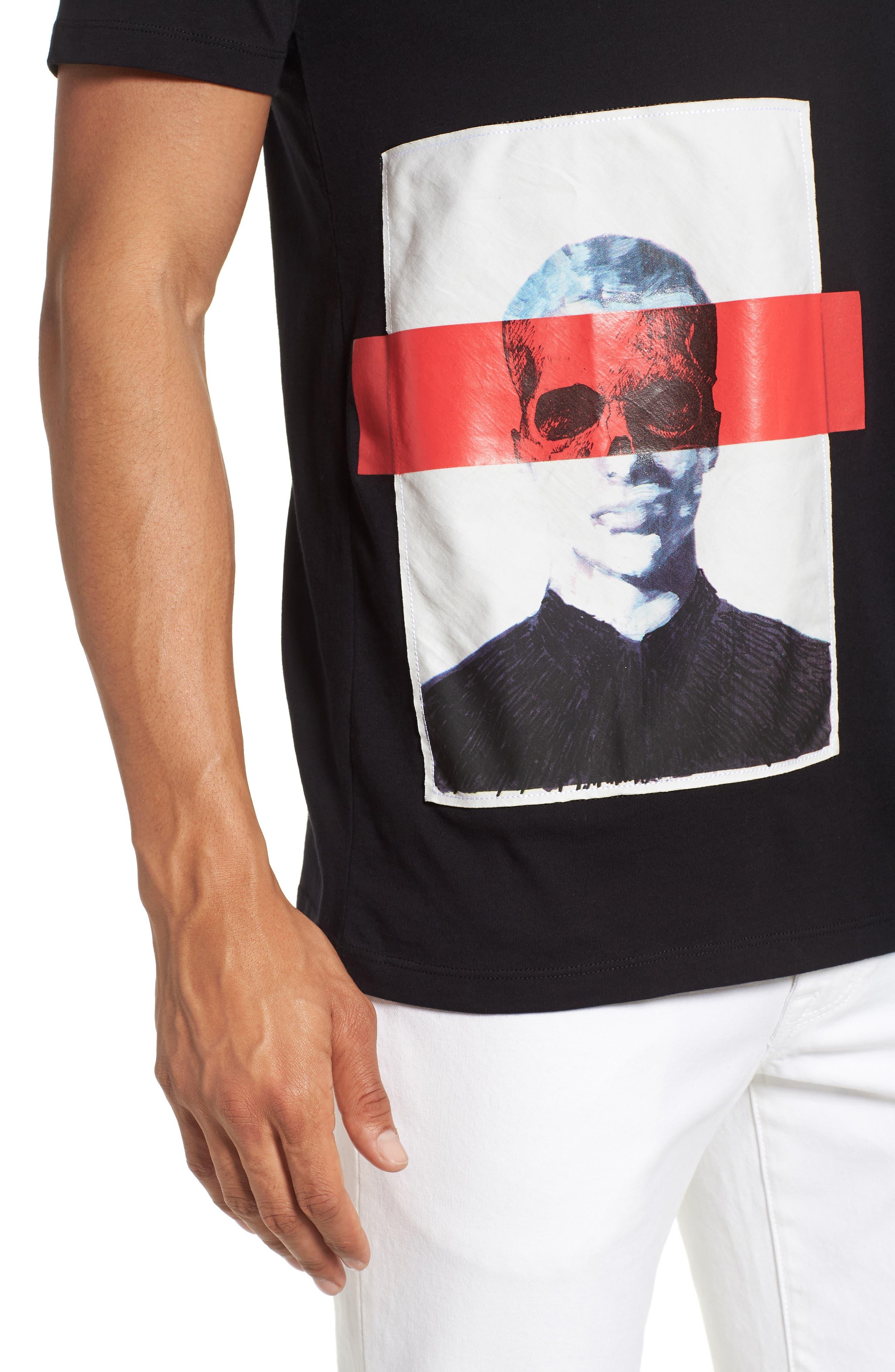 Dimage T-Shirt,                             Alternate thumbnail 4, color,                             Black
