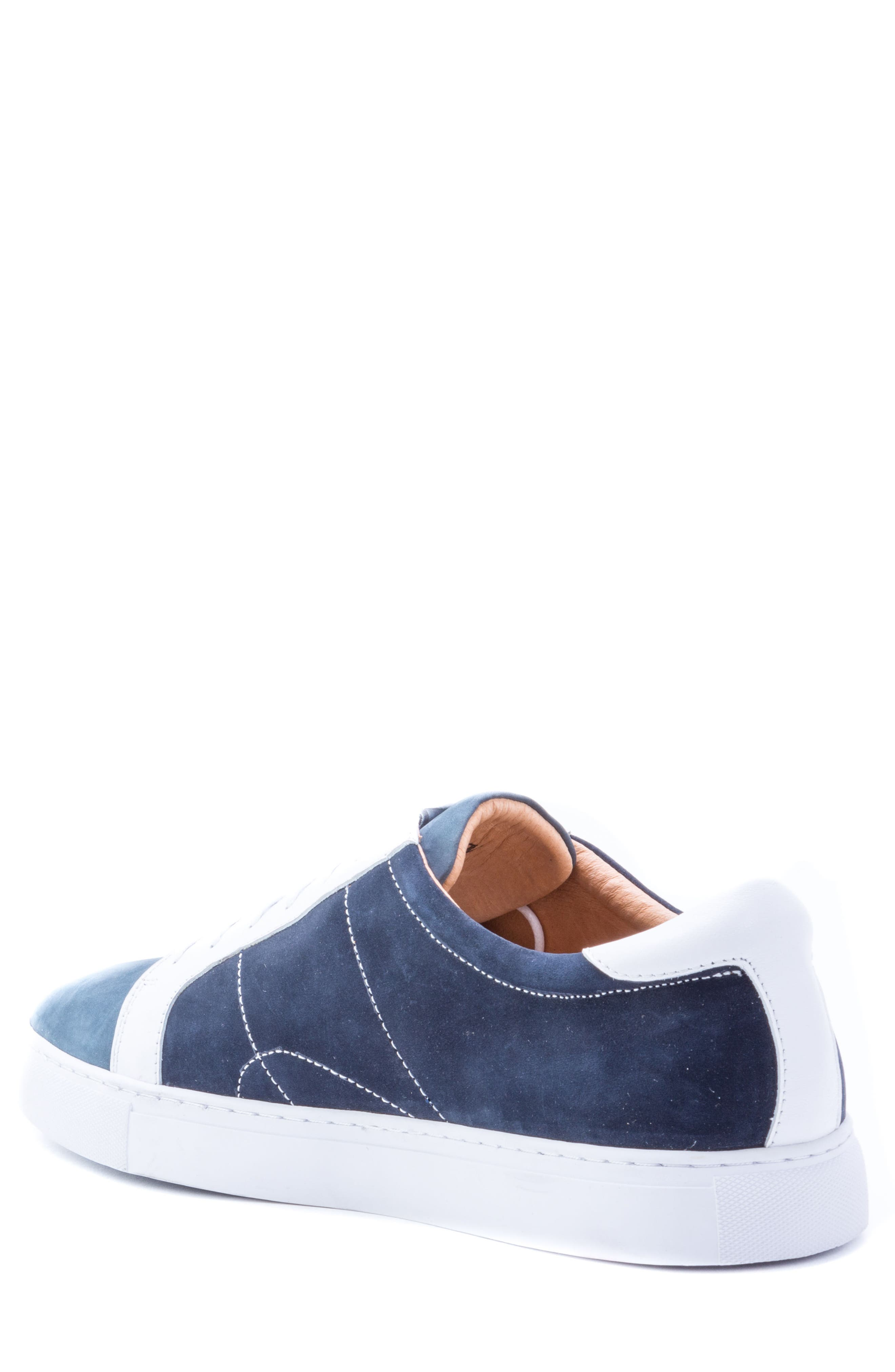 Gonzalo Low Top Sneaker,                             Alternate thumbnail 2, color,                             Navy Suede