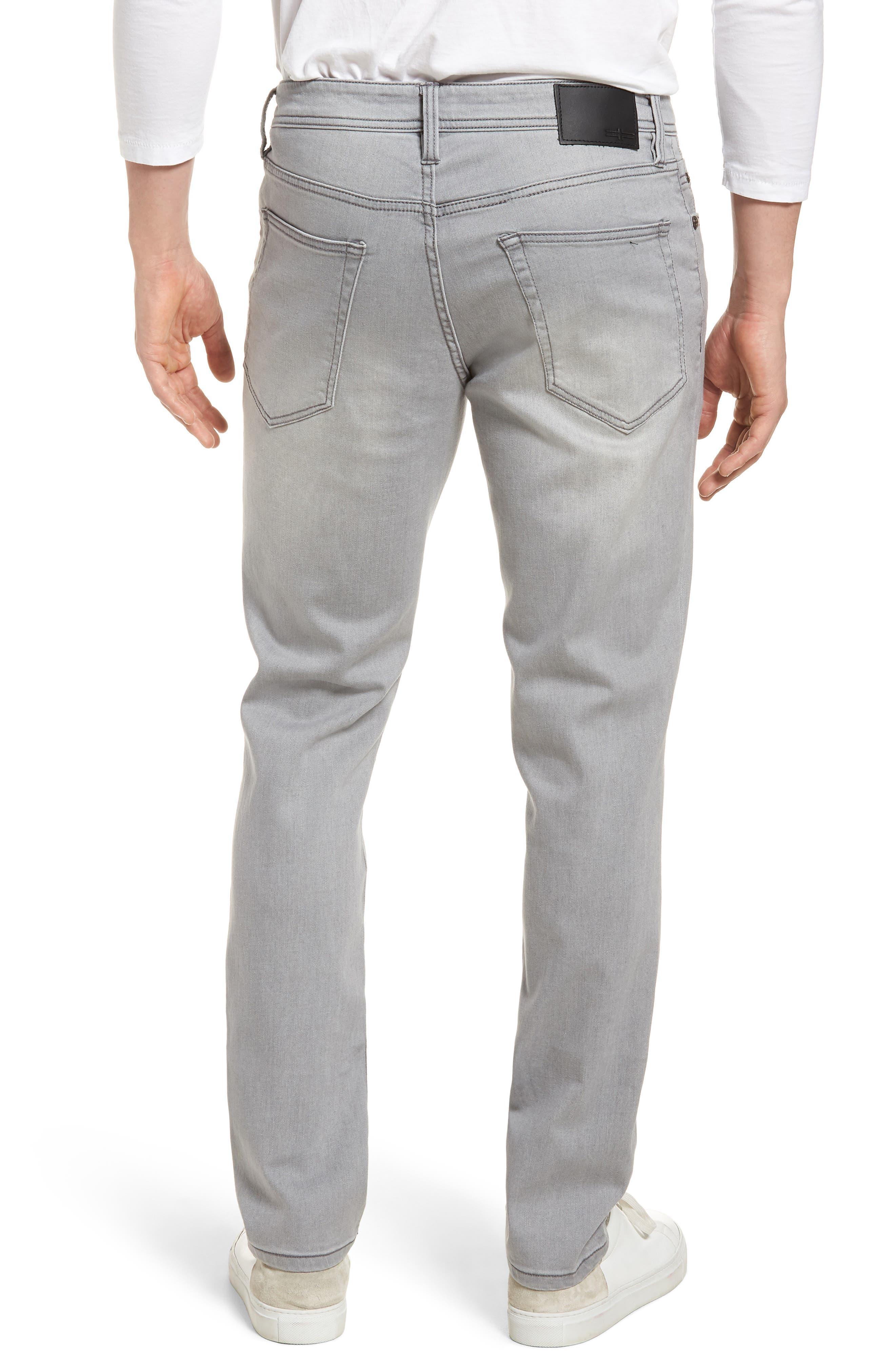 Jeans Co. Kingston Slim Straight Leg Jeans,                             Alternate thumbnail 2, color,                             Coal Mine Dark