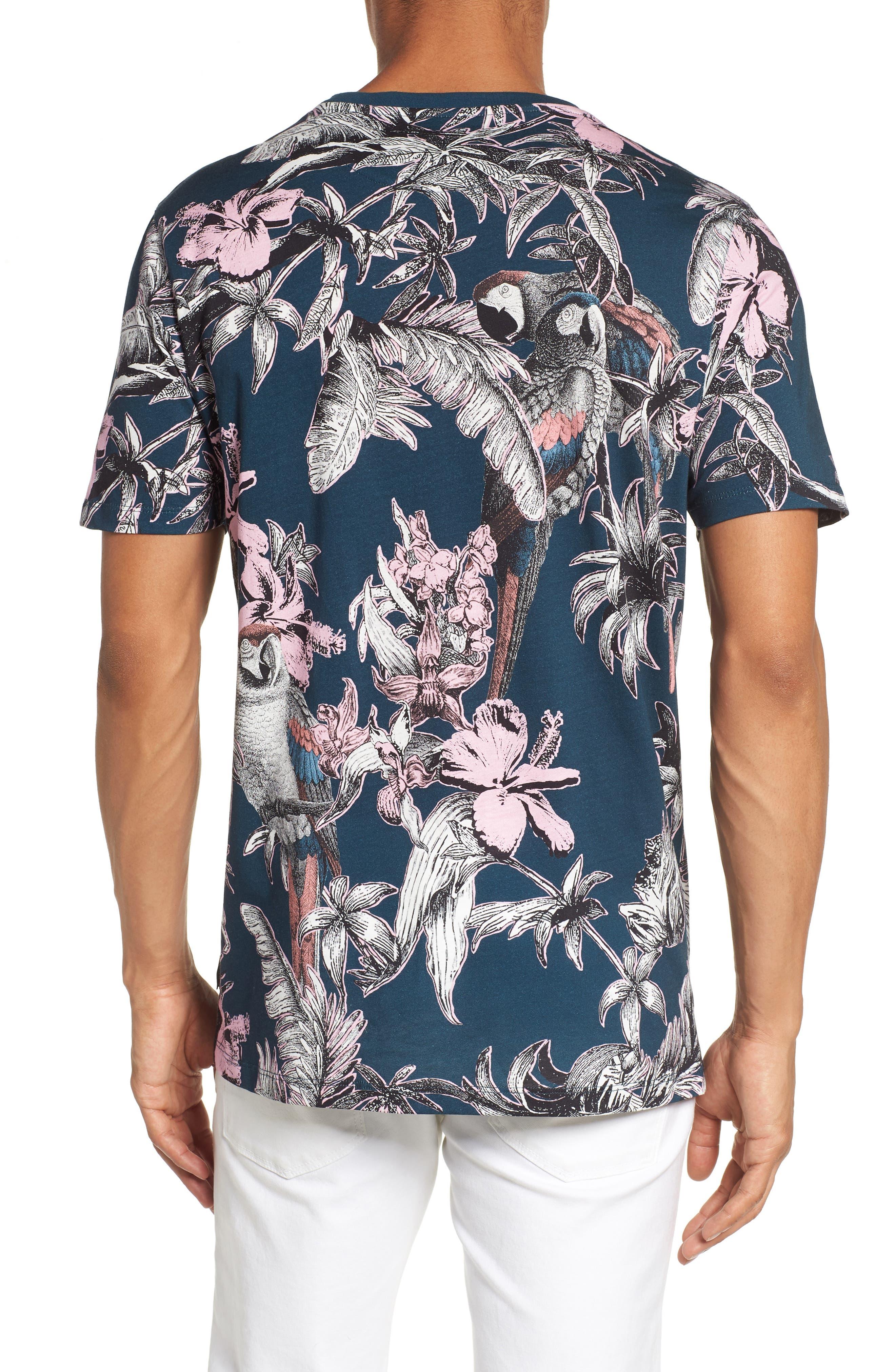 Trim Fit Print T-Shirt,                             Alternate thumbnail 2, color,                             Navy