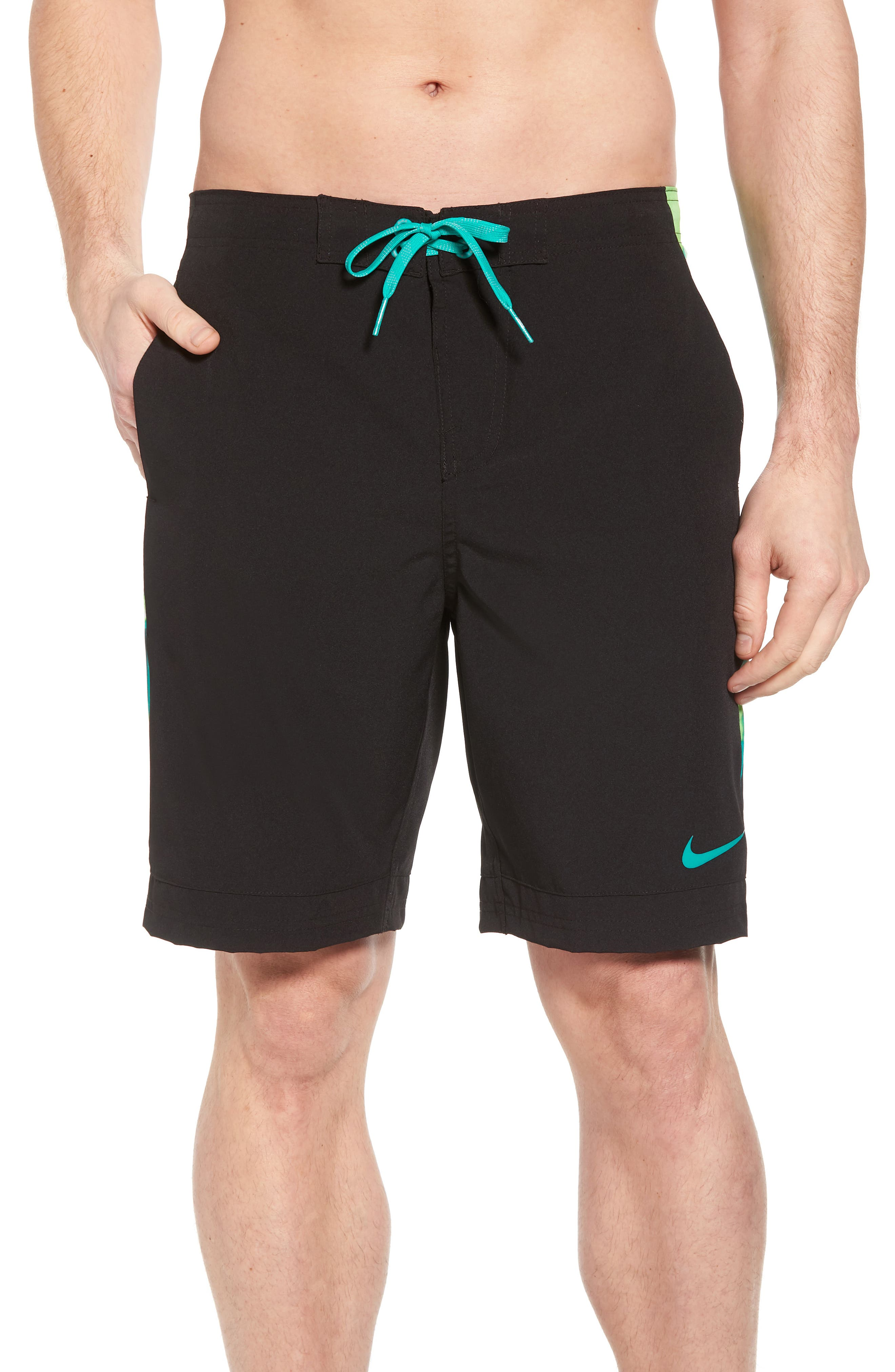 Racer Board Shorts,                             Main thumbnail 1, color,                             Black