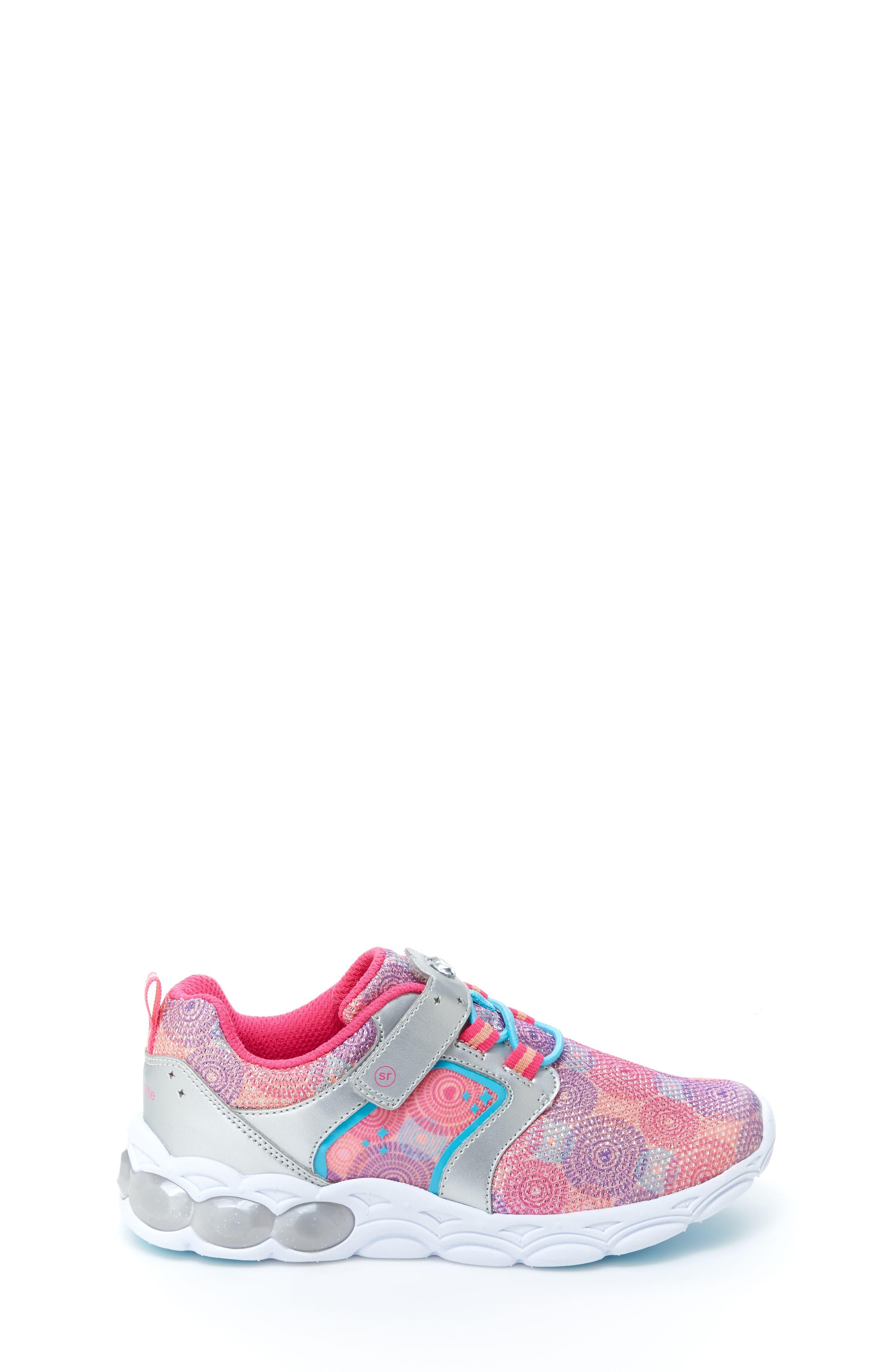 Lights Lively Light-Up Sneaker,                             Alternate thumbnail 2, color,                             Rainbow