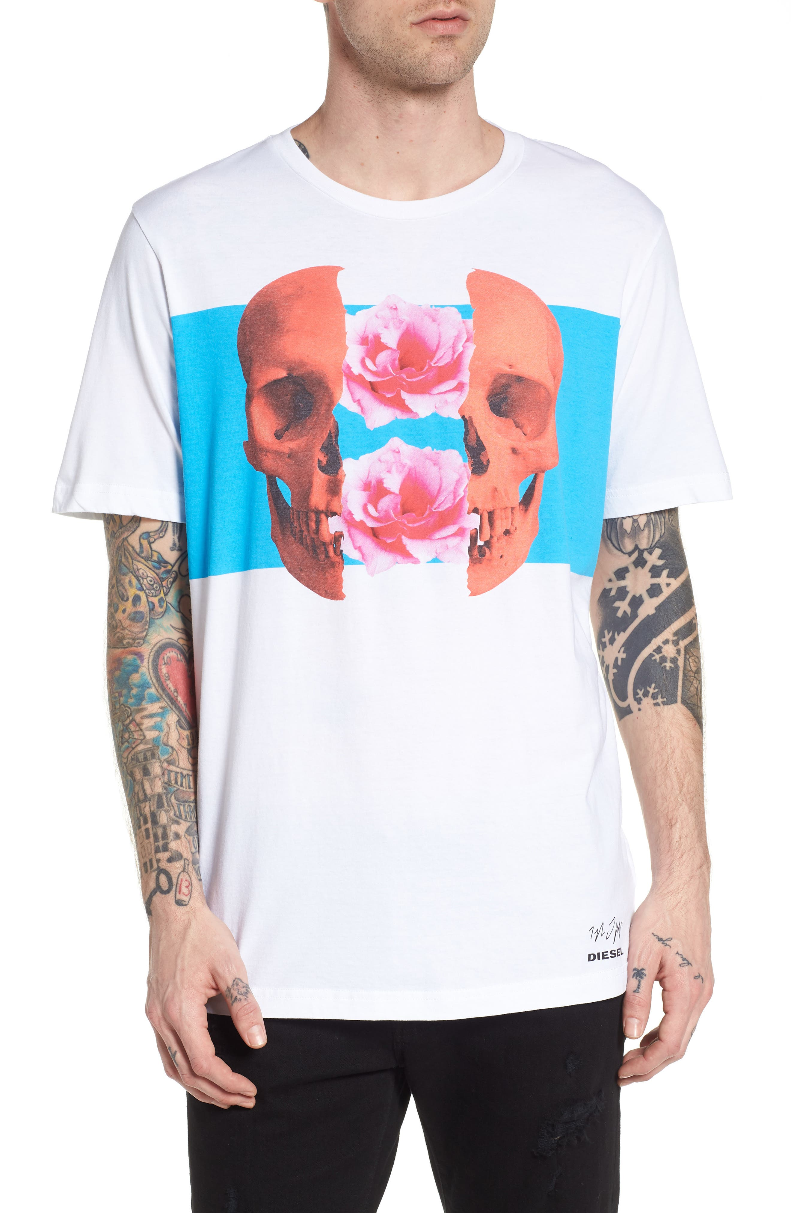 T-Just-SW T-Shirt,                         Main,                         color, White