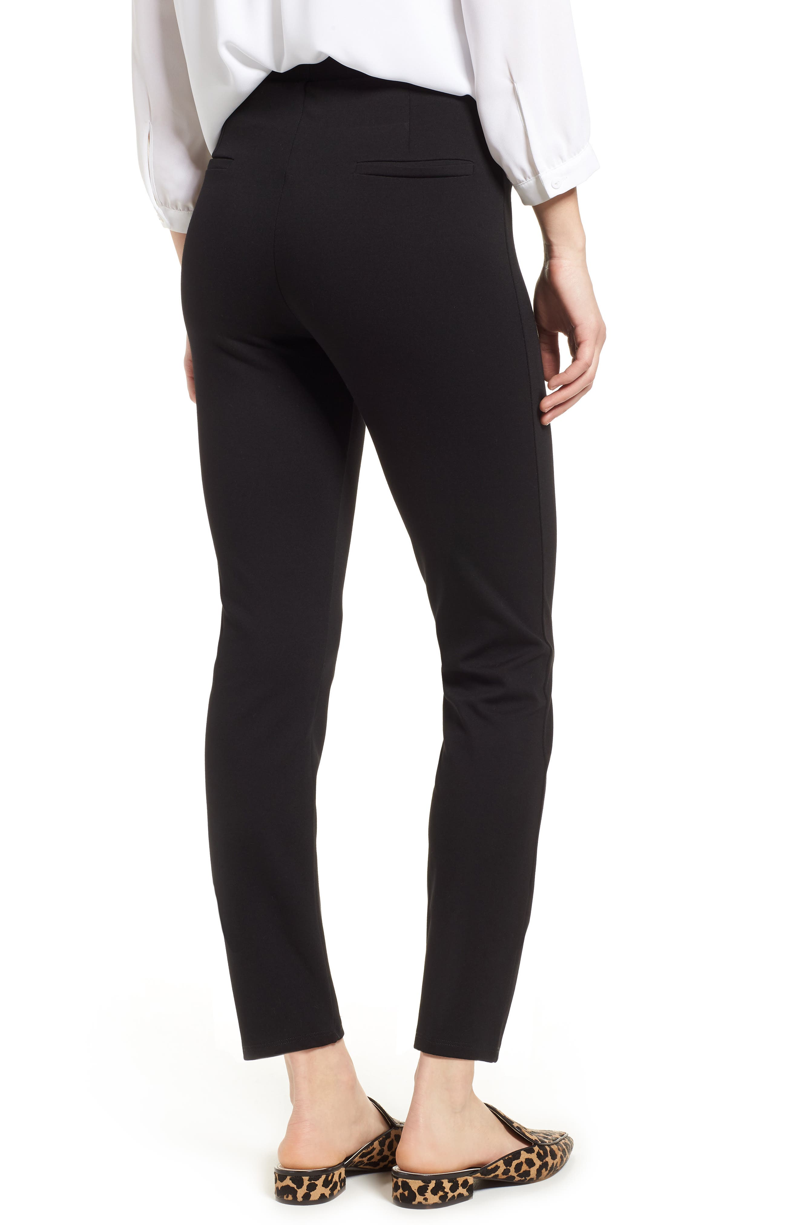 Macklin Ponte Leggings,                             Alternate thumbnail 2, color,                             Black
