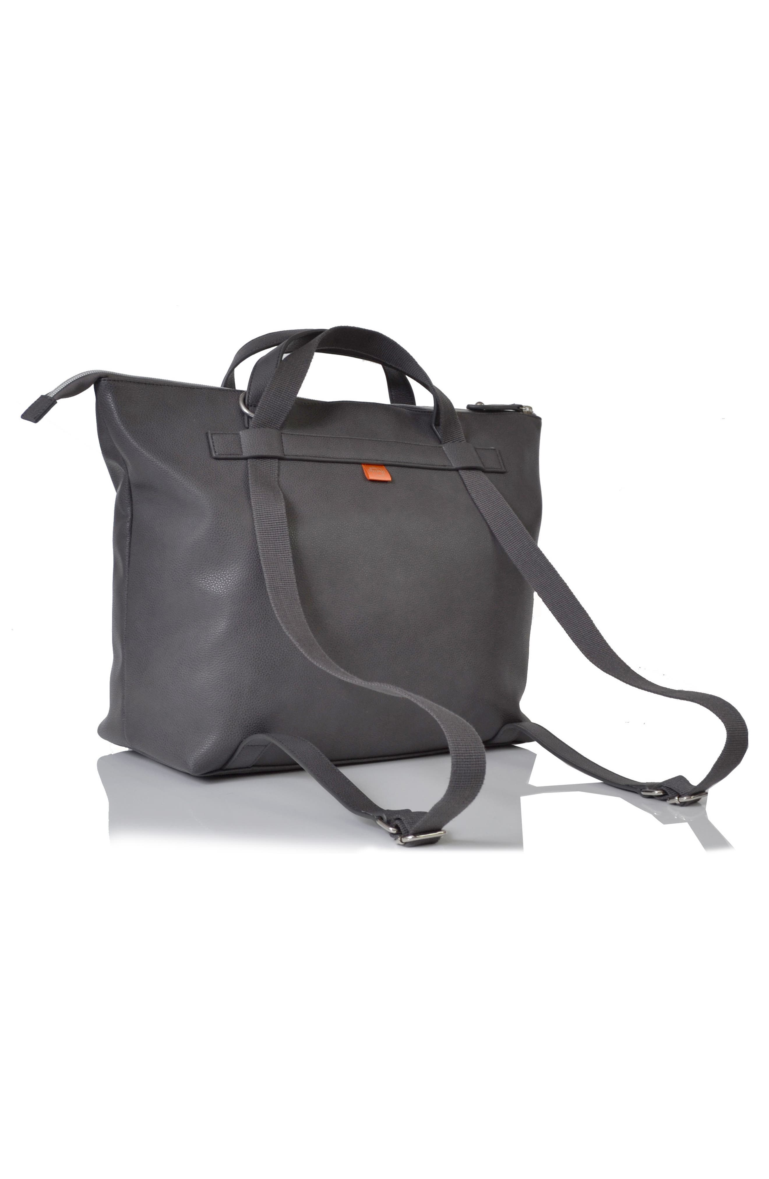 Saunton Faux Leather Convertible Diaper Backpack,                             Alternate thumbnail 2, color,                             Pewter