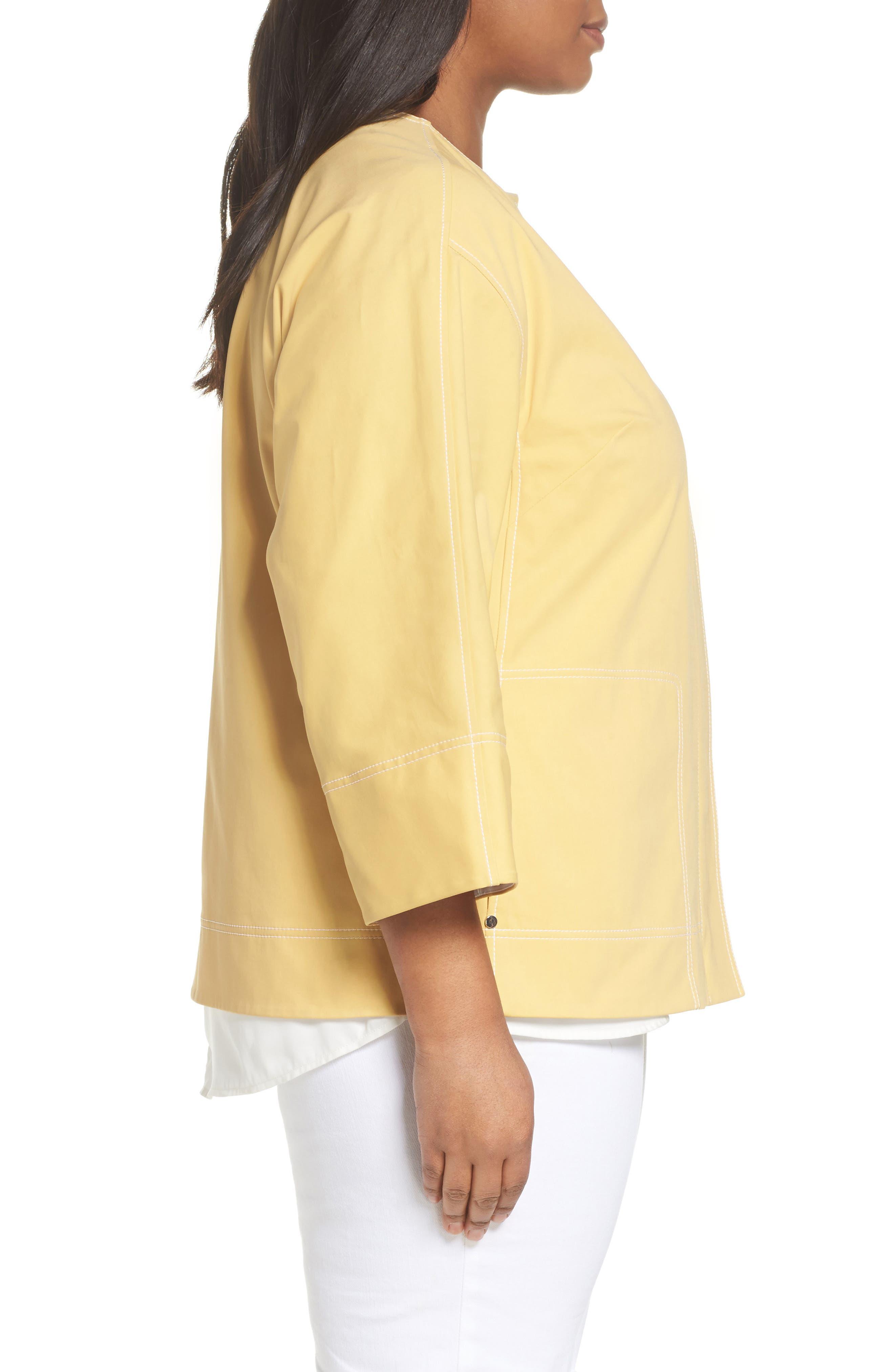 Milo Zip Jacket,                             Alternate thumbnail 3, color,                             Sienna Yellow