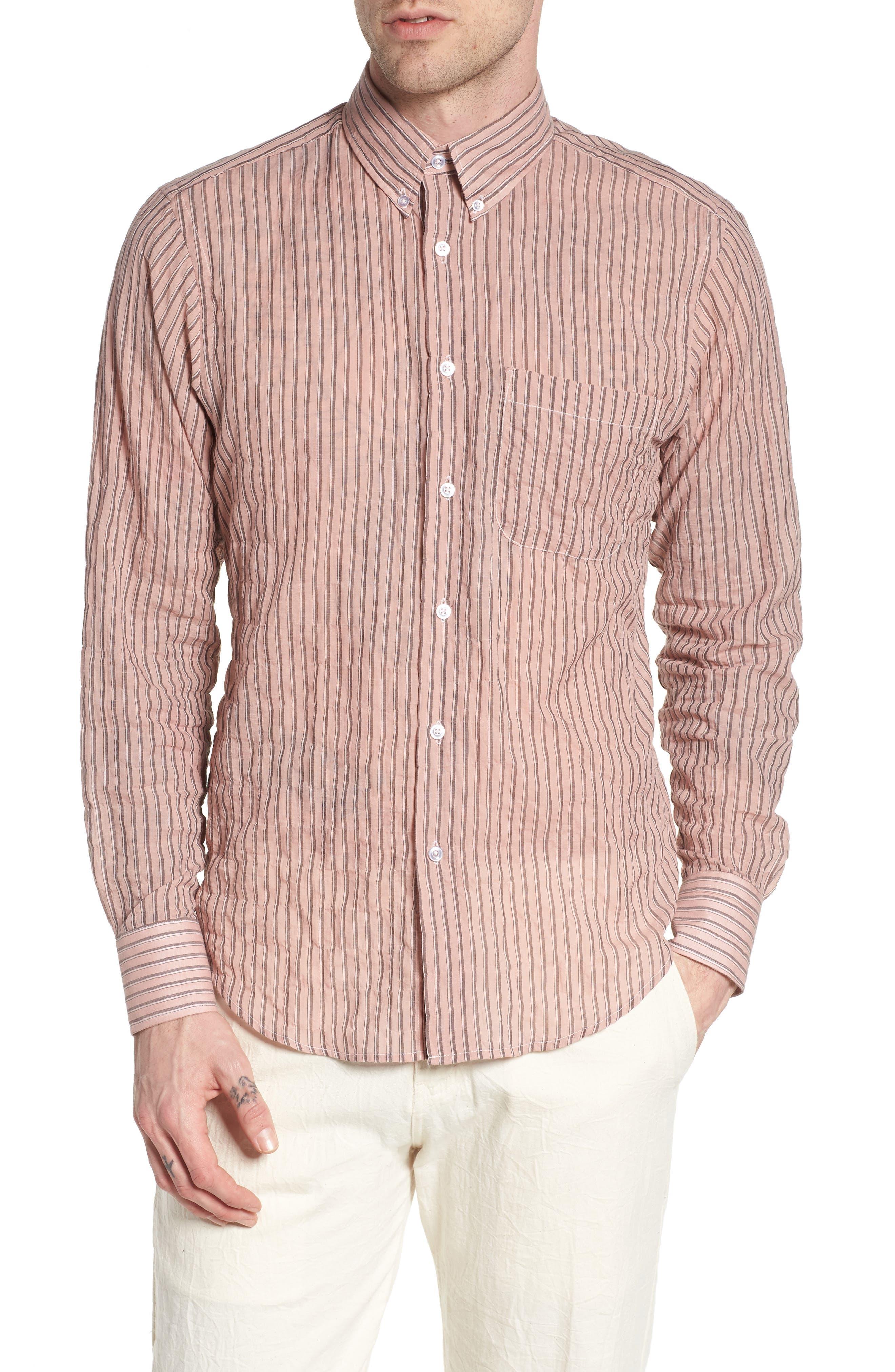 Naked & Famous Denim Vintage Stripe Shirt