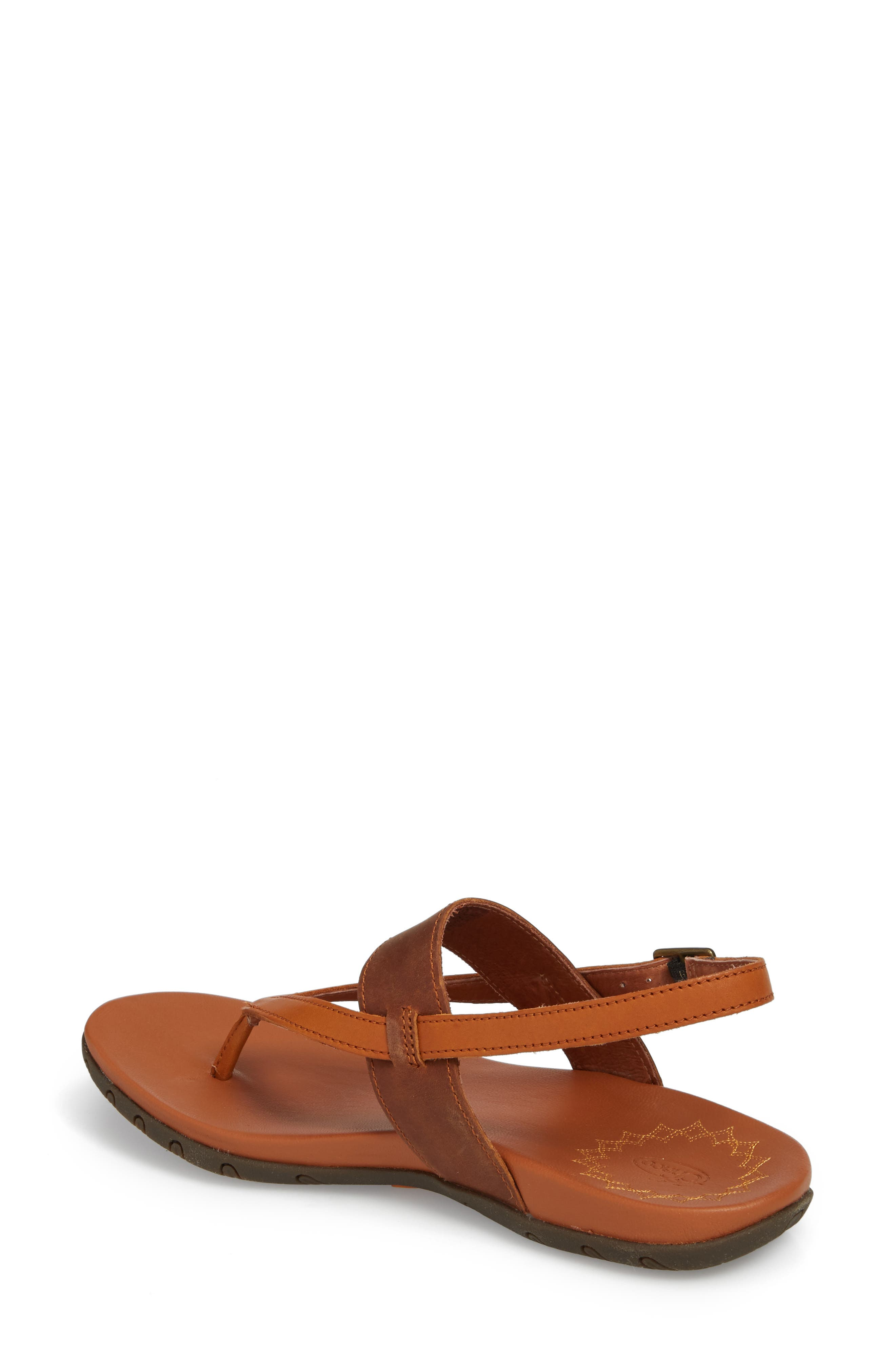 Maya II Sandal,                             Alternate thumbnail 2, color,                             Rust Leather