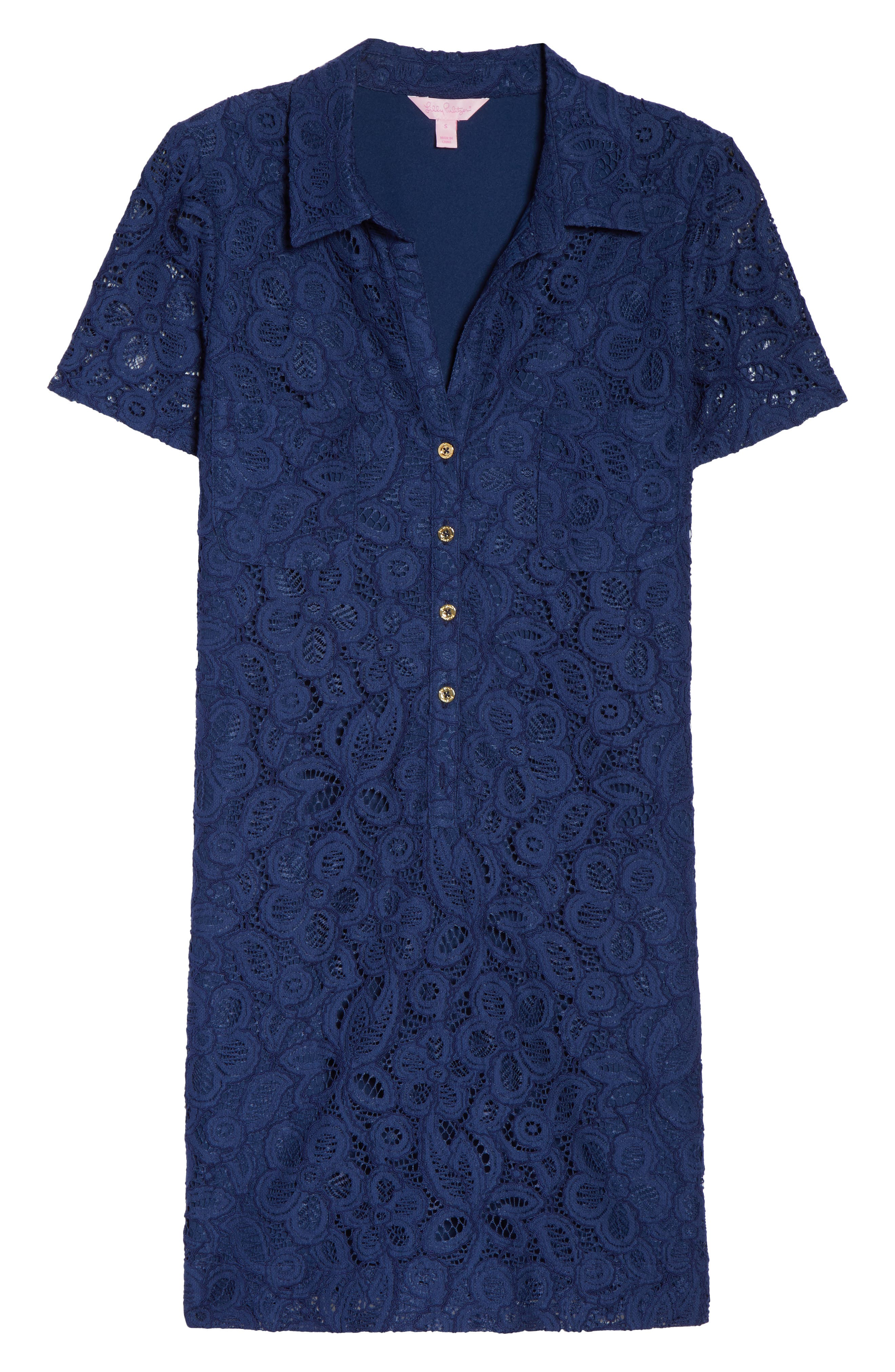 Nelle Shirtdress,                             Alternate thumbnail 6, color,                             High Tide Floral Pop Lace