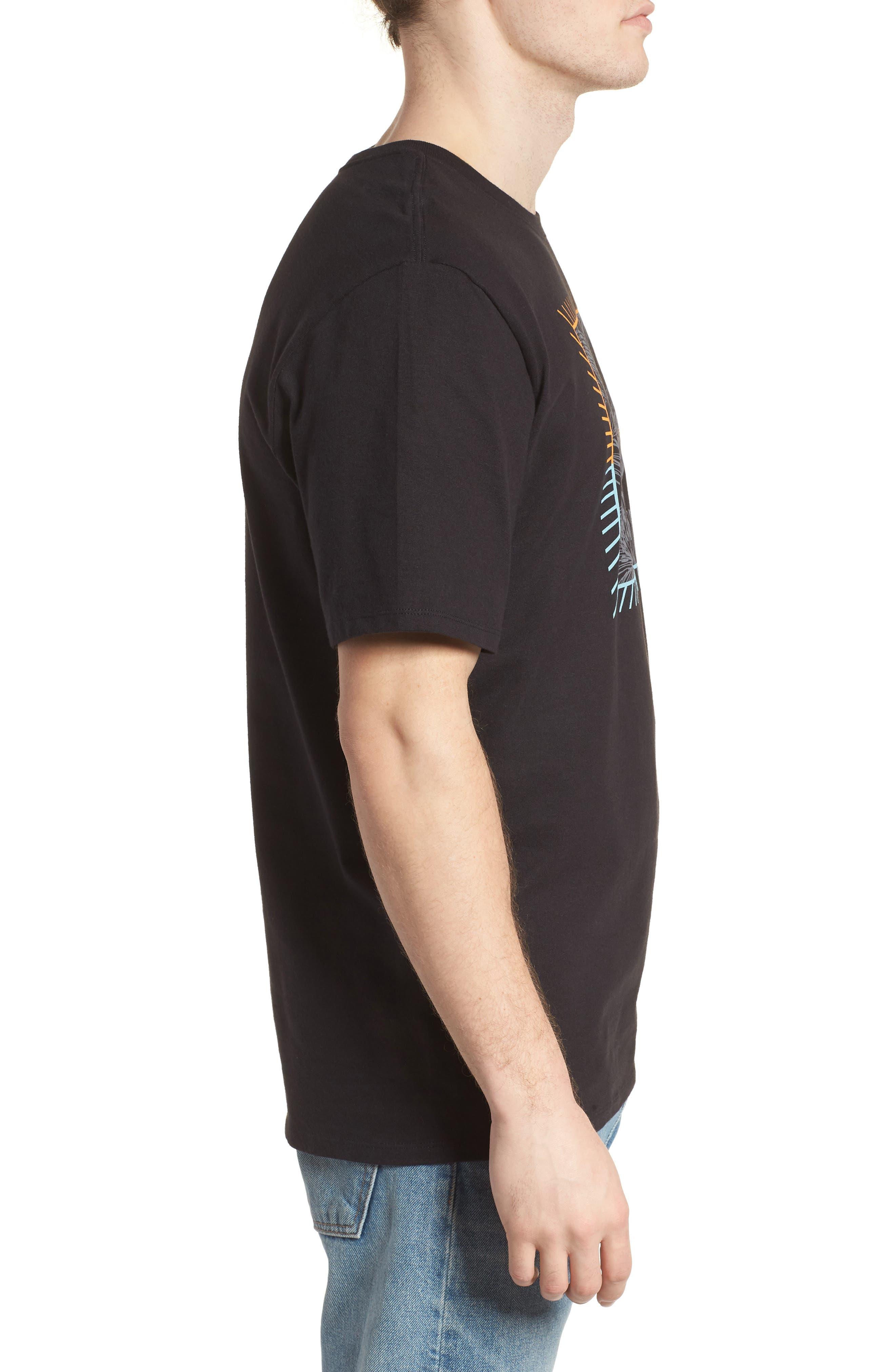Be Fronds T-Shirt,                             Alternate thumbnail 3, color,                             Black