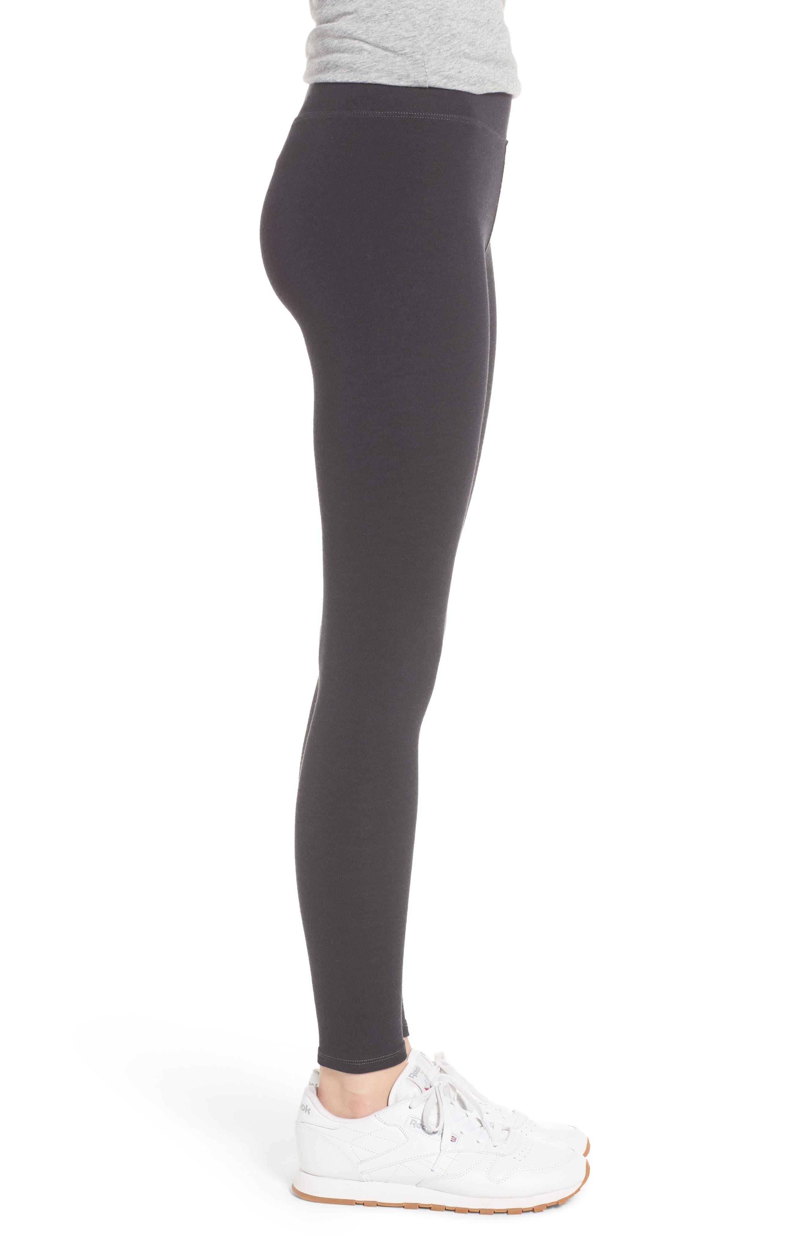 Stripe Yoga Pants,                             Alternate thumbnail 3, color,                             Old Black