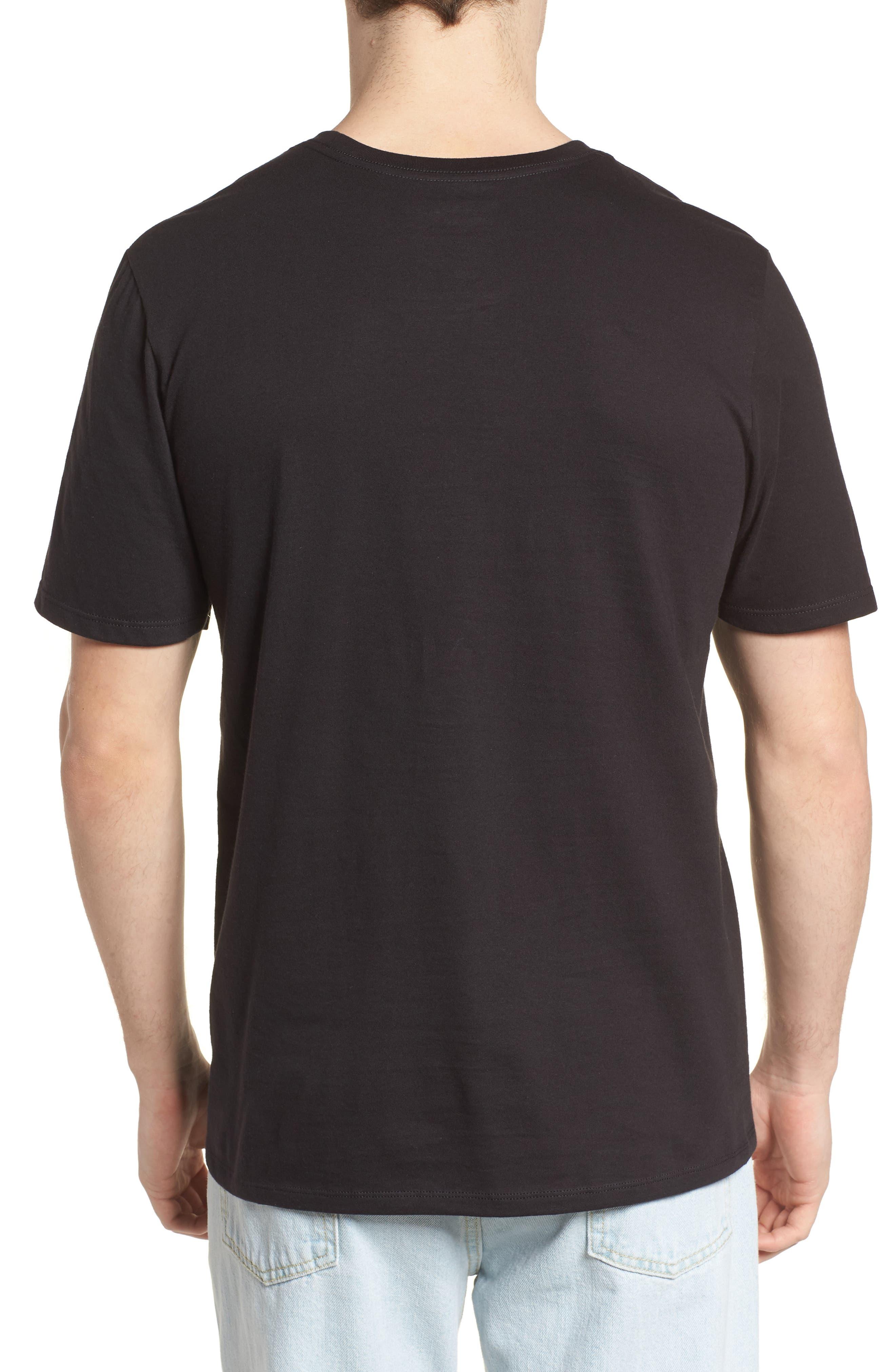 Overgrown Short Sleeve T-Shirt,                             Alternate thumbnail 2, color,                             Black