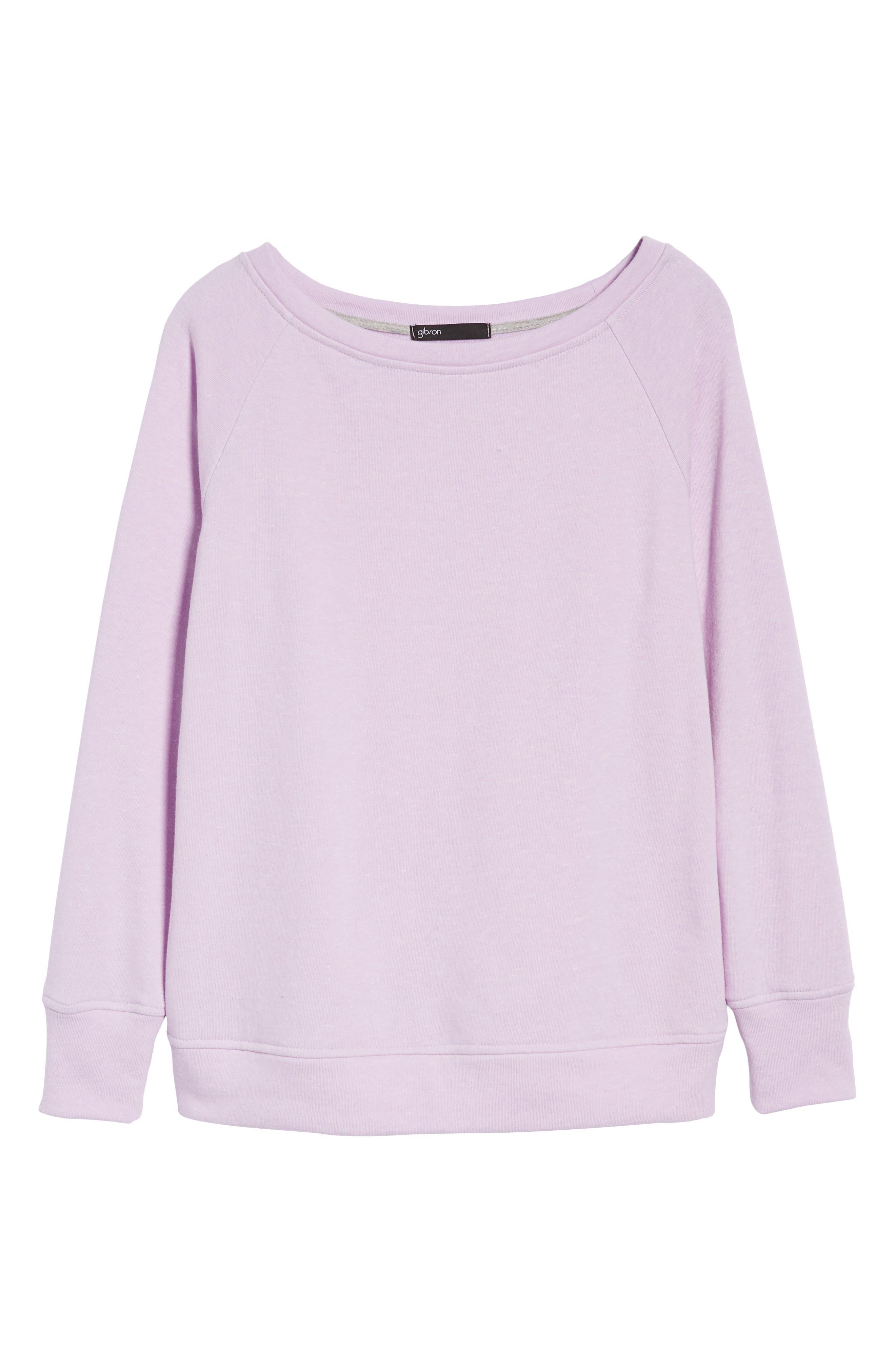 Slouch Sweatshirt,                             Alternate thumbnail 6, color,                             Pop Lavender