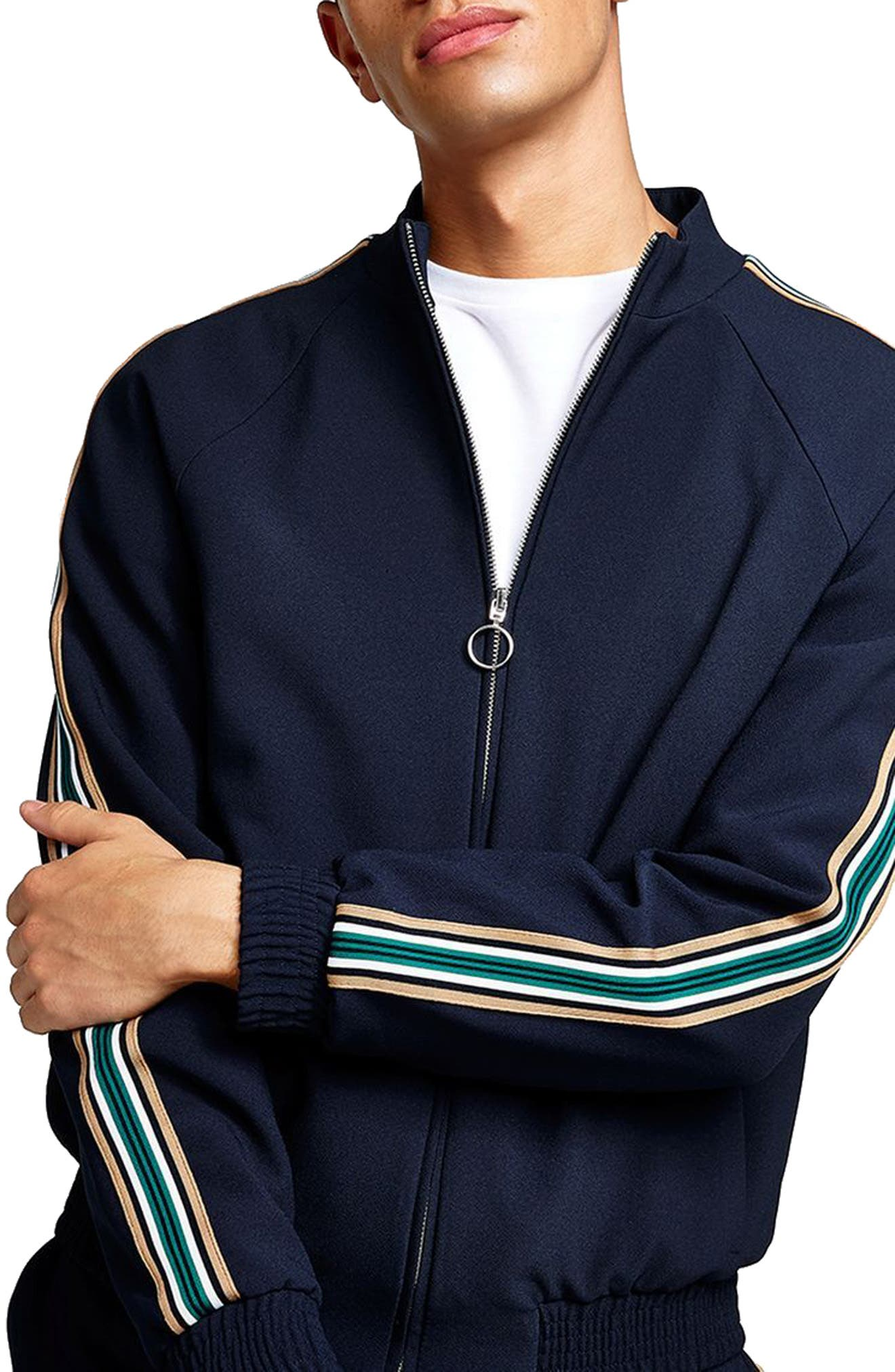 Track Jacket,                         Main,                         color, Dark Blue Multi