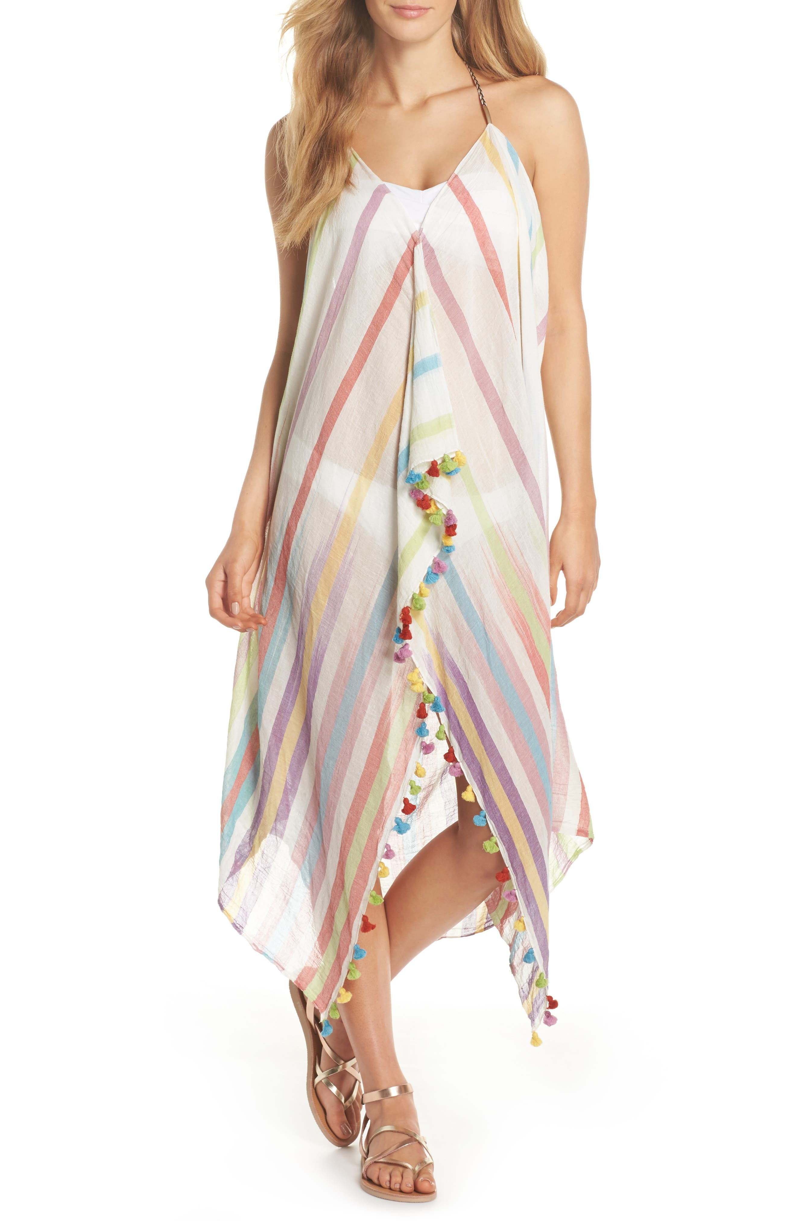 Pool Party Beach to Street Cover-Up Dress,                         Main,                         color, Rnb