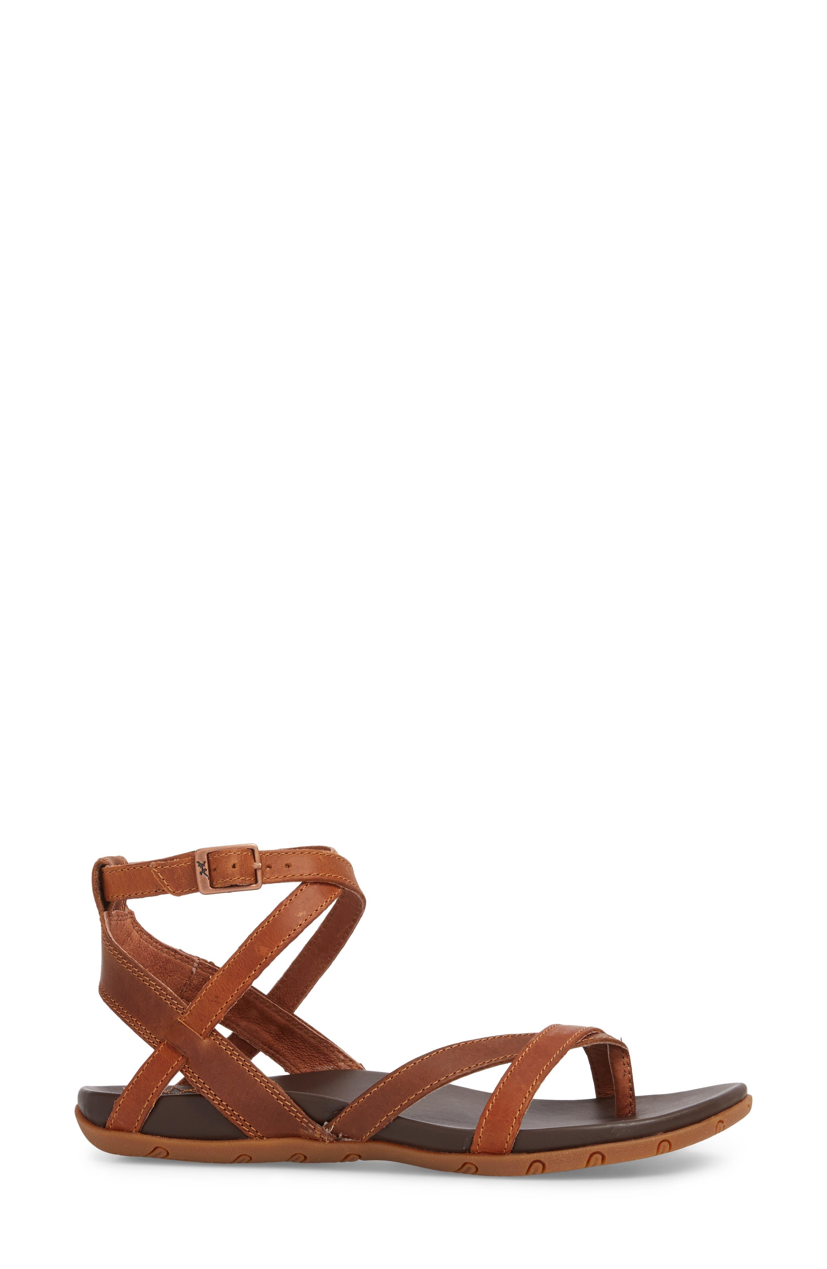 Juniper Sandal,                             Alternate thumbnail 3, color,                             Rust Leather