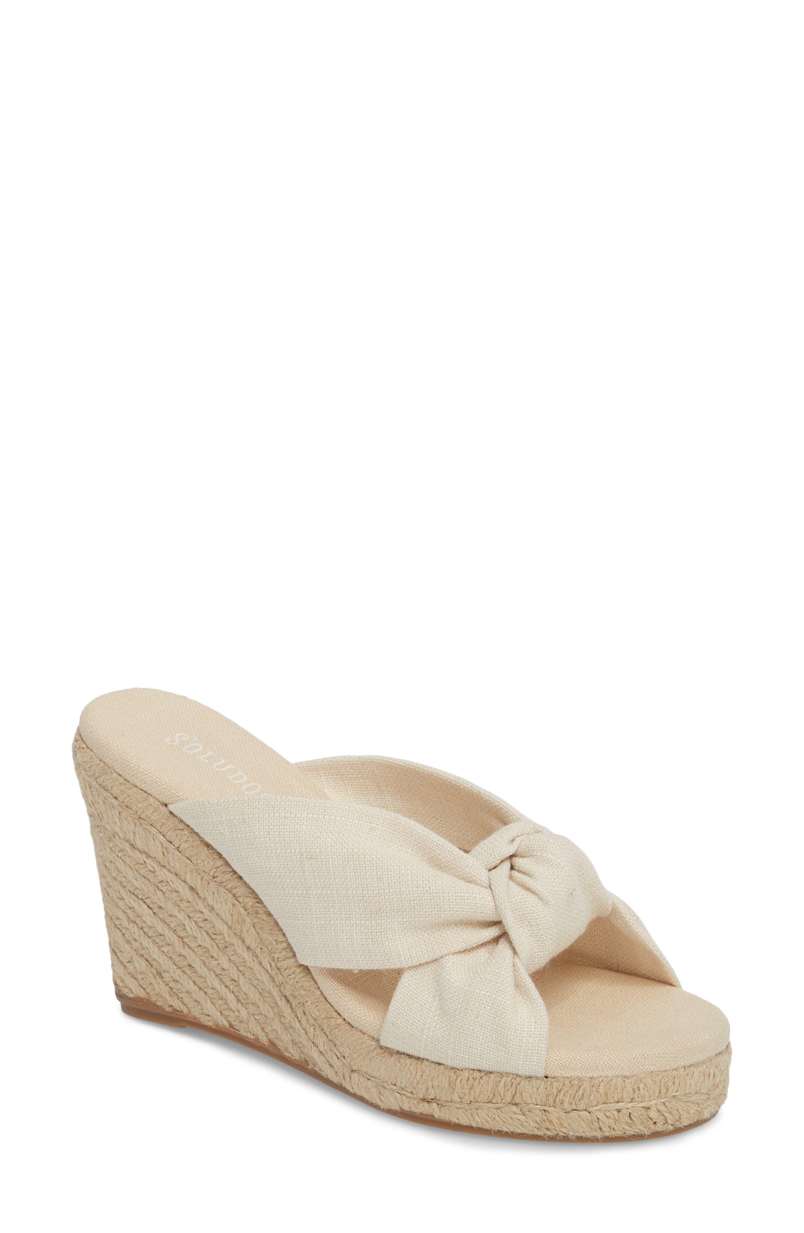 Espadrille Wedge Sandal,                         Main,                         color, Blush