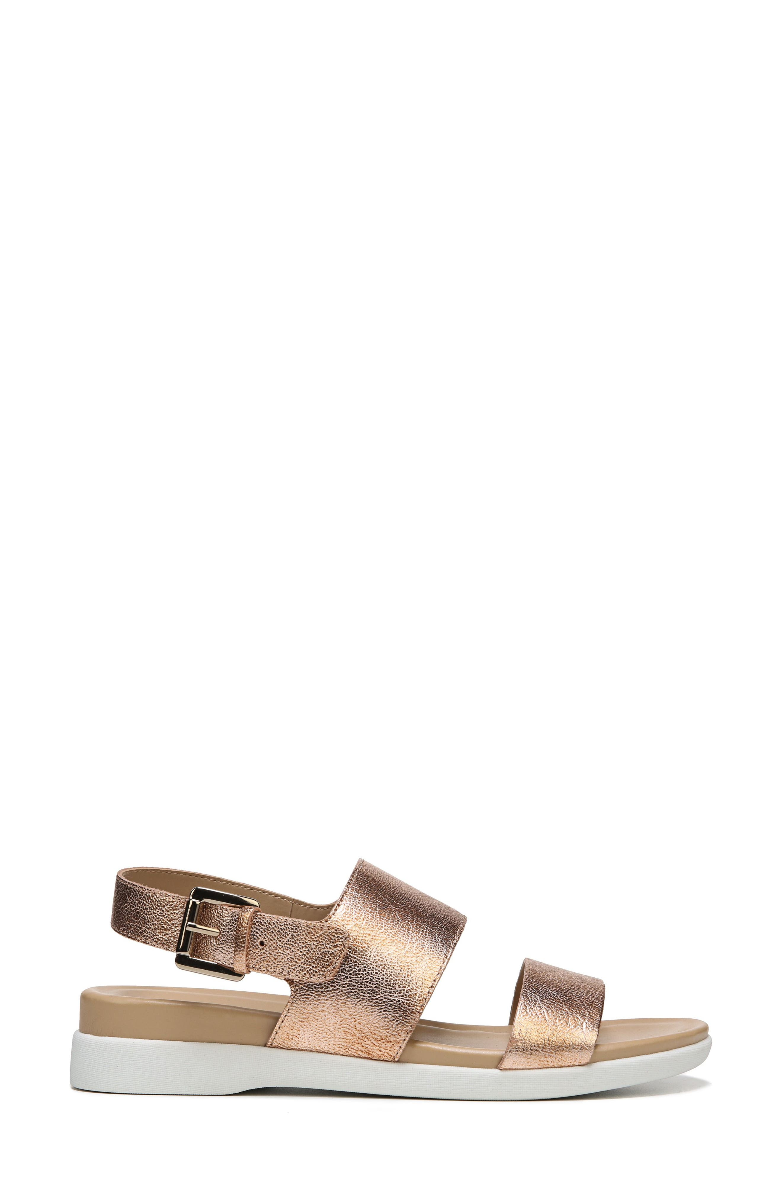 Emory Wedge Sandal,                             Alternate thumbnail 3, color,                             Copper Leather