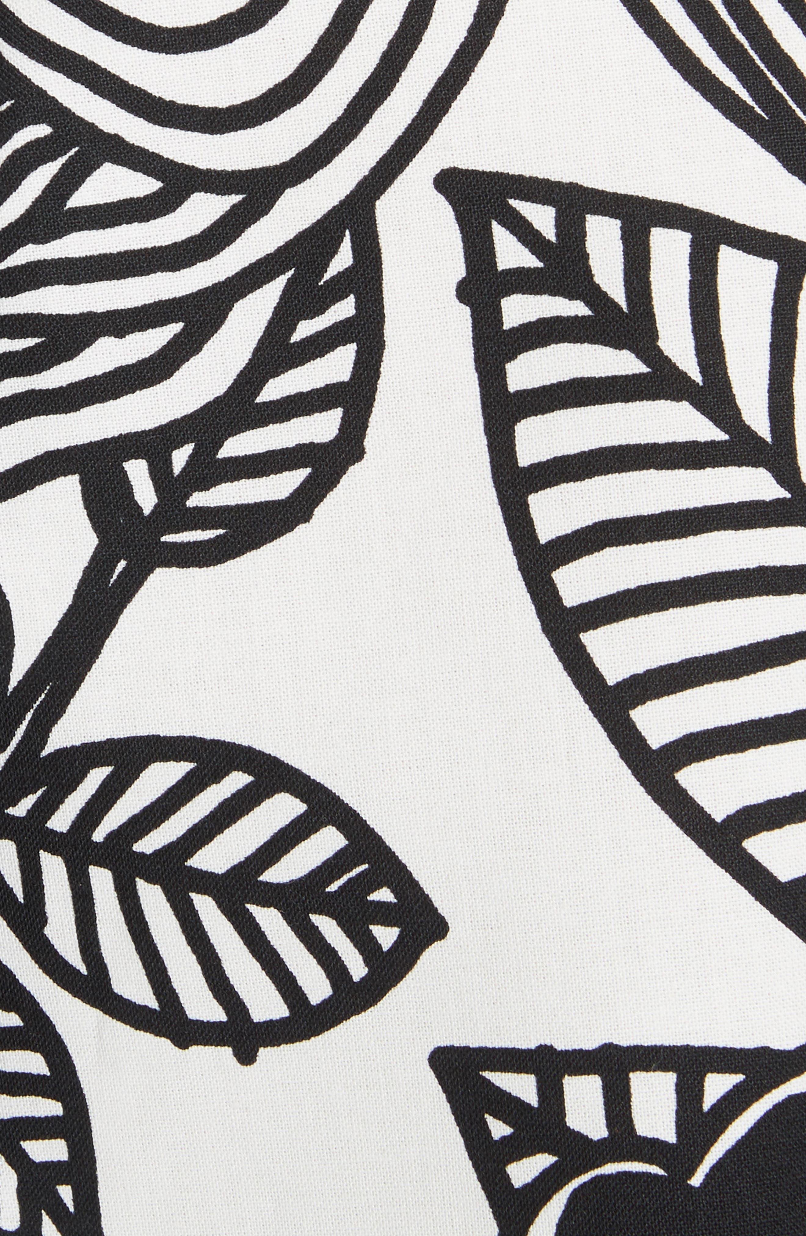 x Marimekko Vegetable Print Cotton Skirt,                             Alternate thumbnail 5, color,                             Wht/ Blk/ Ylw