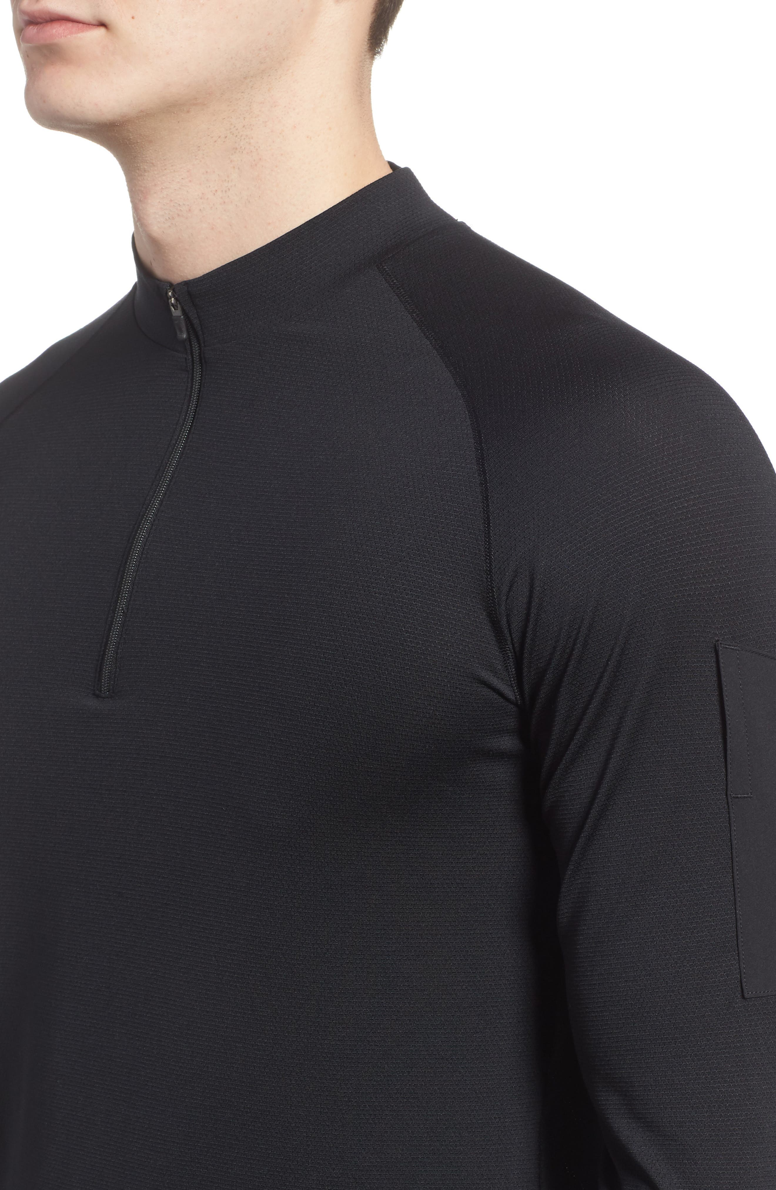 Pro Fitted Utility Dry Tech Sport Top,                             Alternate thumbnail 4, color,                             Black/ Black