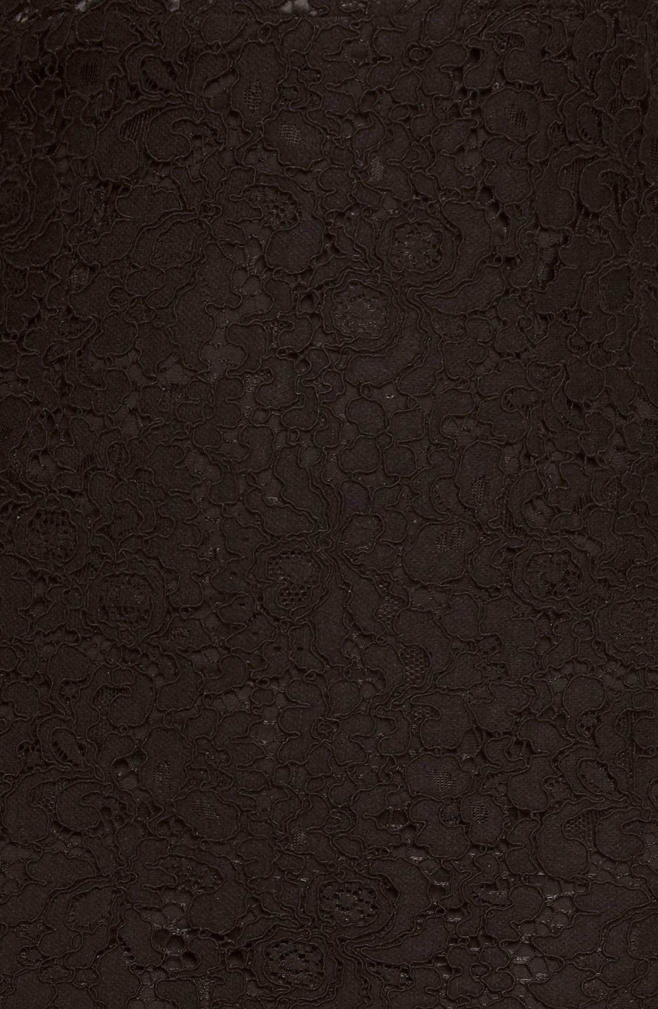 Pierre Lace Dress,                             Alternate thumbnail 4, color,                             Black