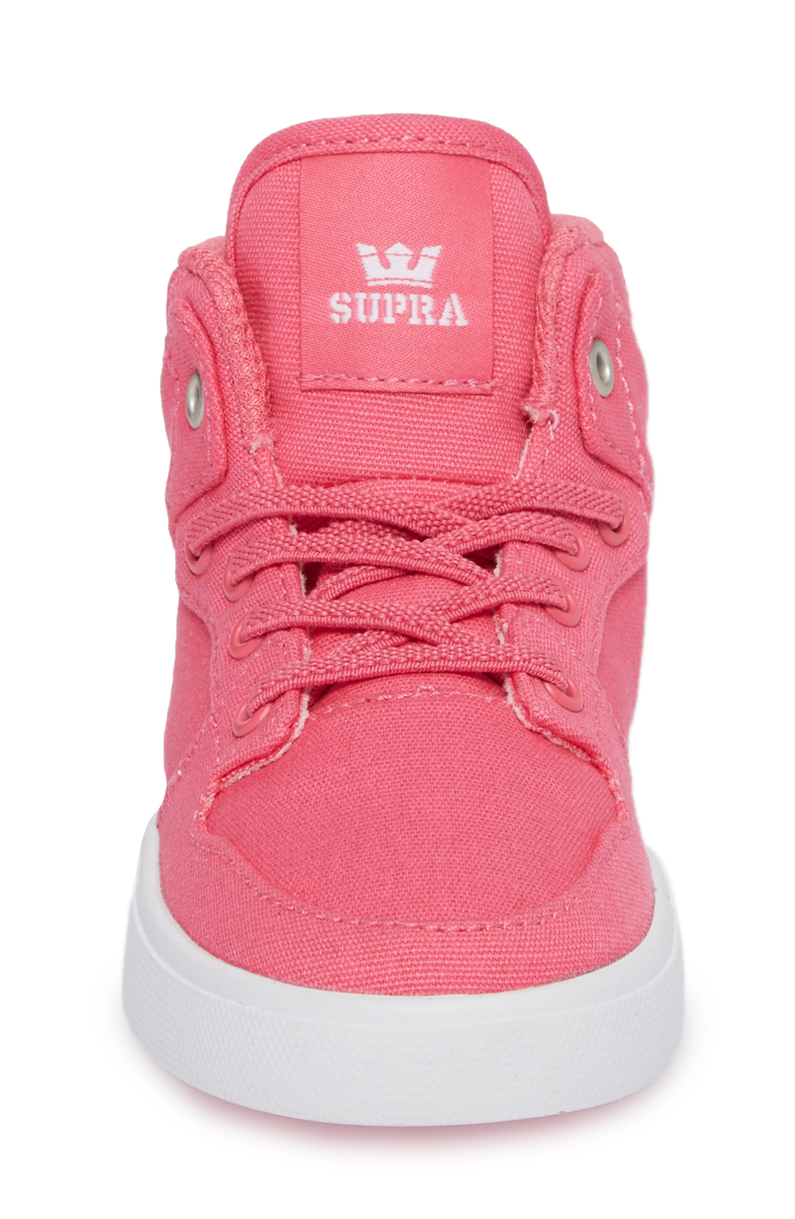 'Vaider' High Top Sneaker,                             Alternate thumbnail 4, color,                             Pink
