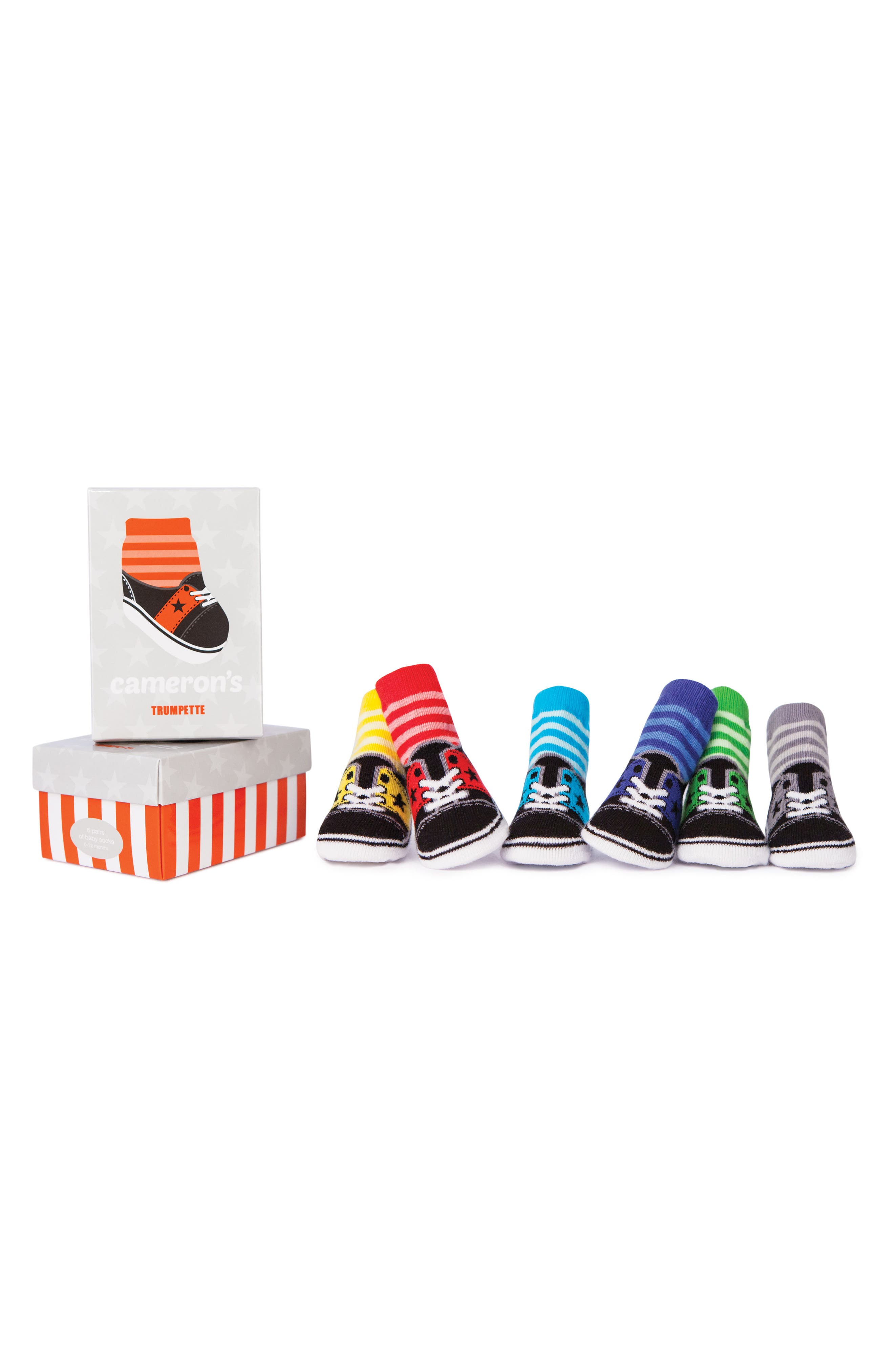 Cameron 6-Pack Socks,                         Main,                         color, Assorted
