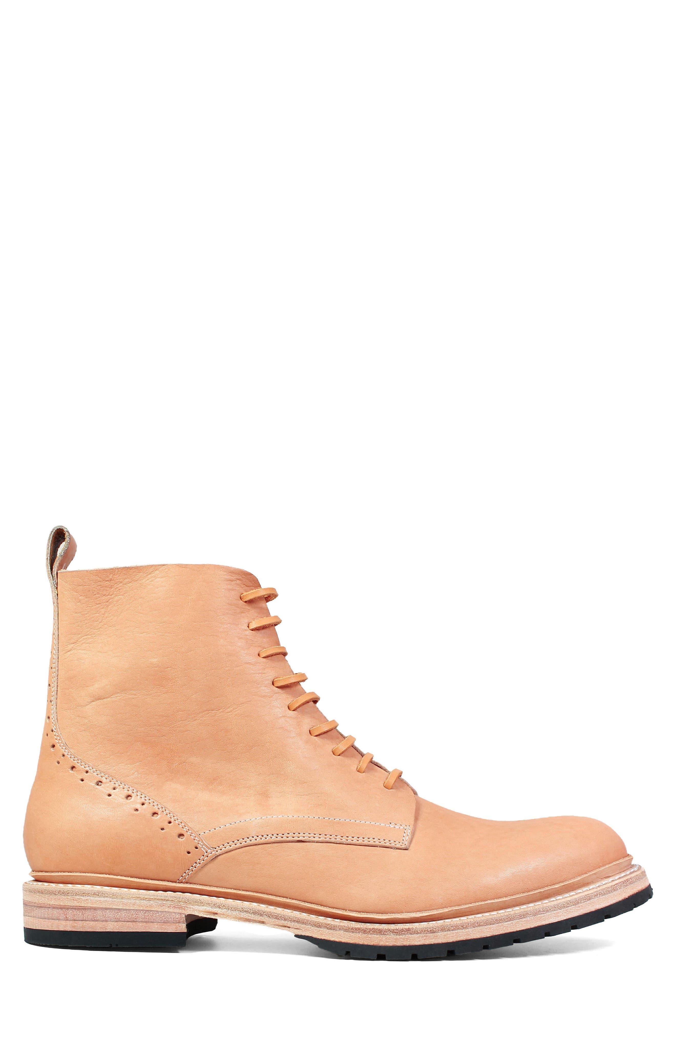 M2 Plain Toe Boot,                             Alternate thumbnail 3, color,                             Natural Leather