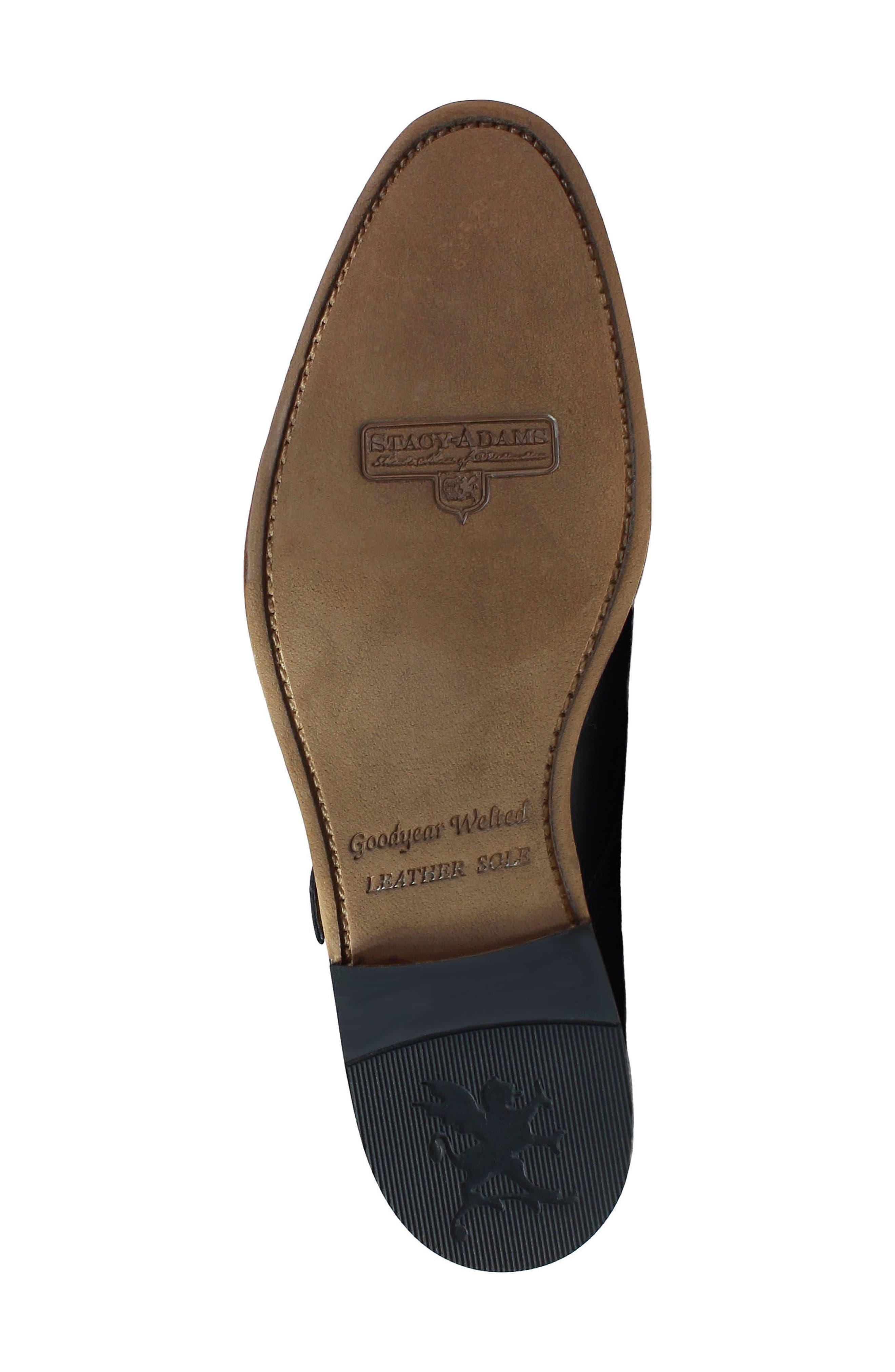 M2 Plain Toe Double Strap Monk Shoe,                             Alternate thumbnail 6, color,                             Black Leather