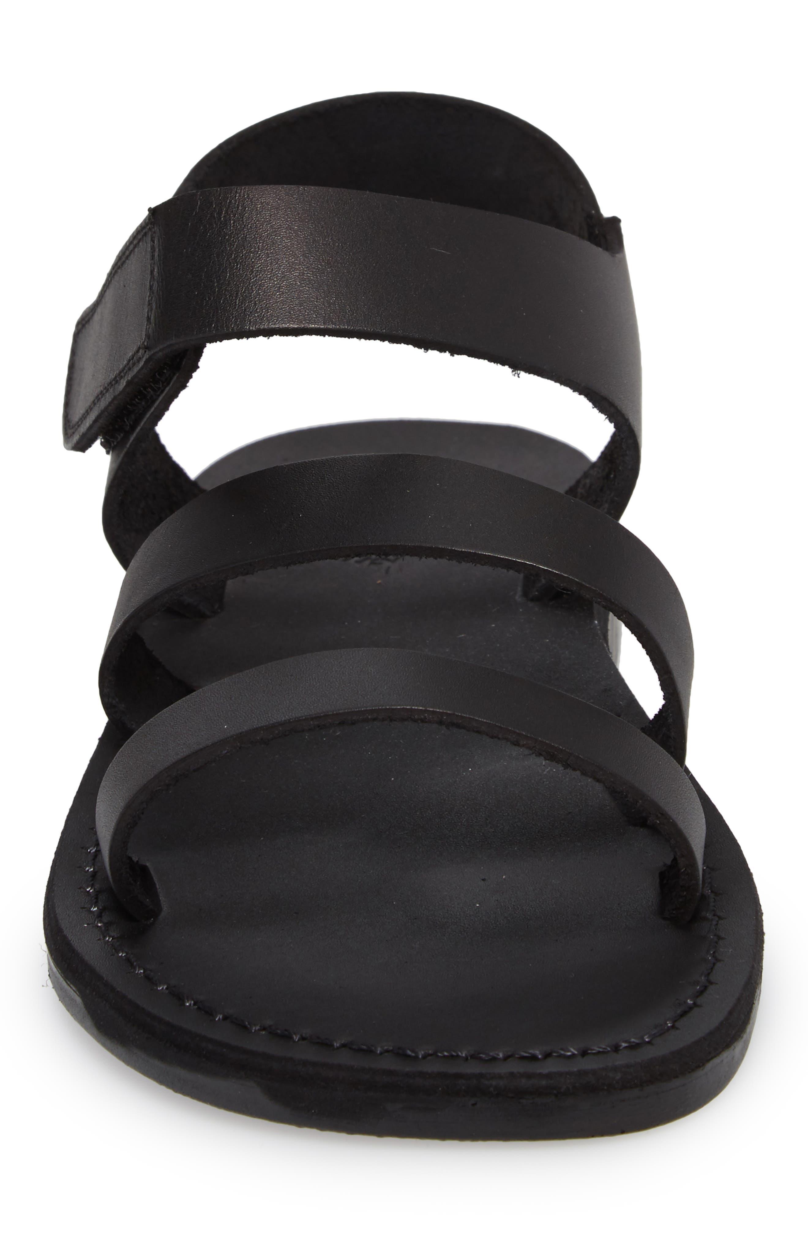 Jared Sandal,                             Alternate thumbnail 4, color,                             Black Leather