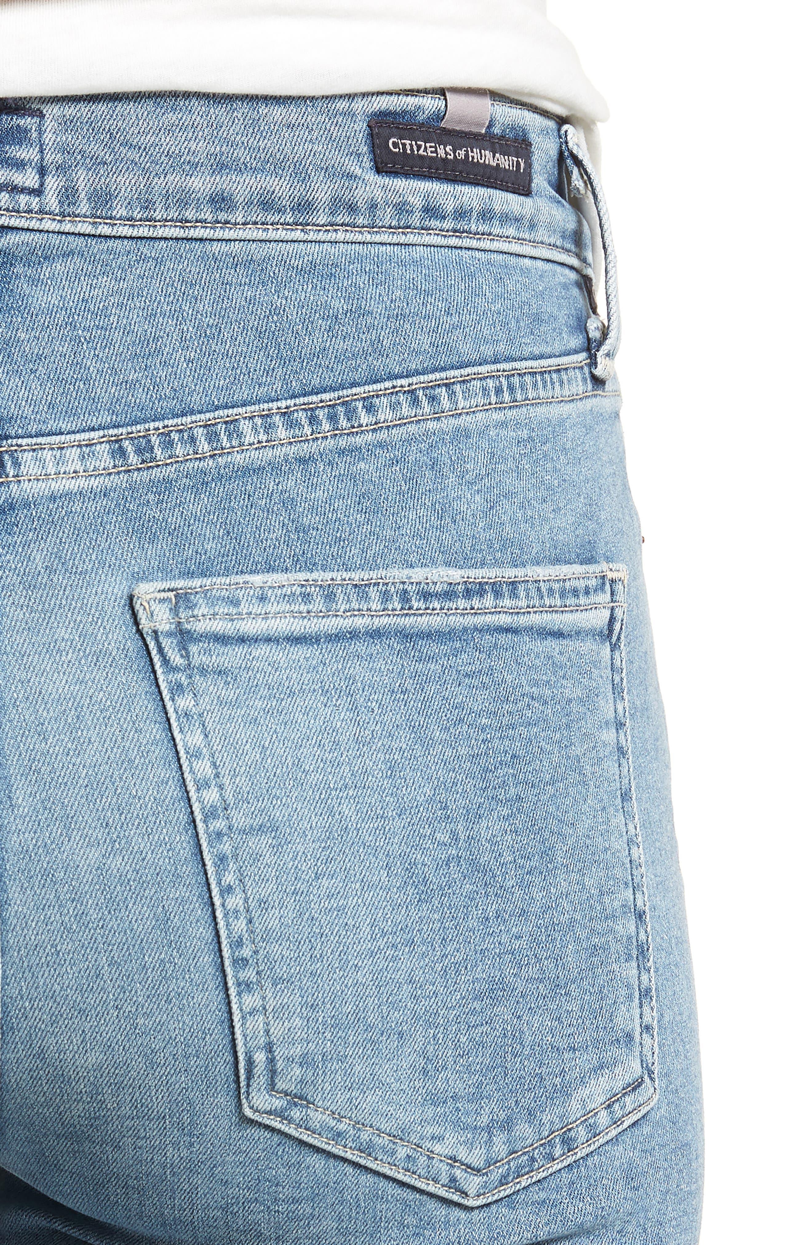 Rocket High Waist Crop Skinny Jeans,                             Alternate thumbnail 4, color,                             Firestone
