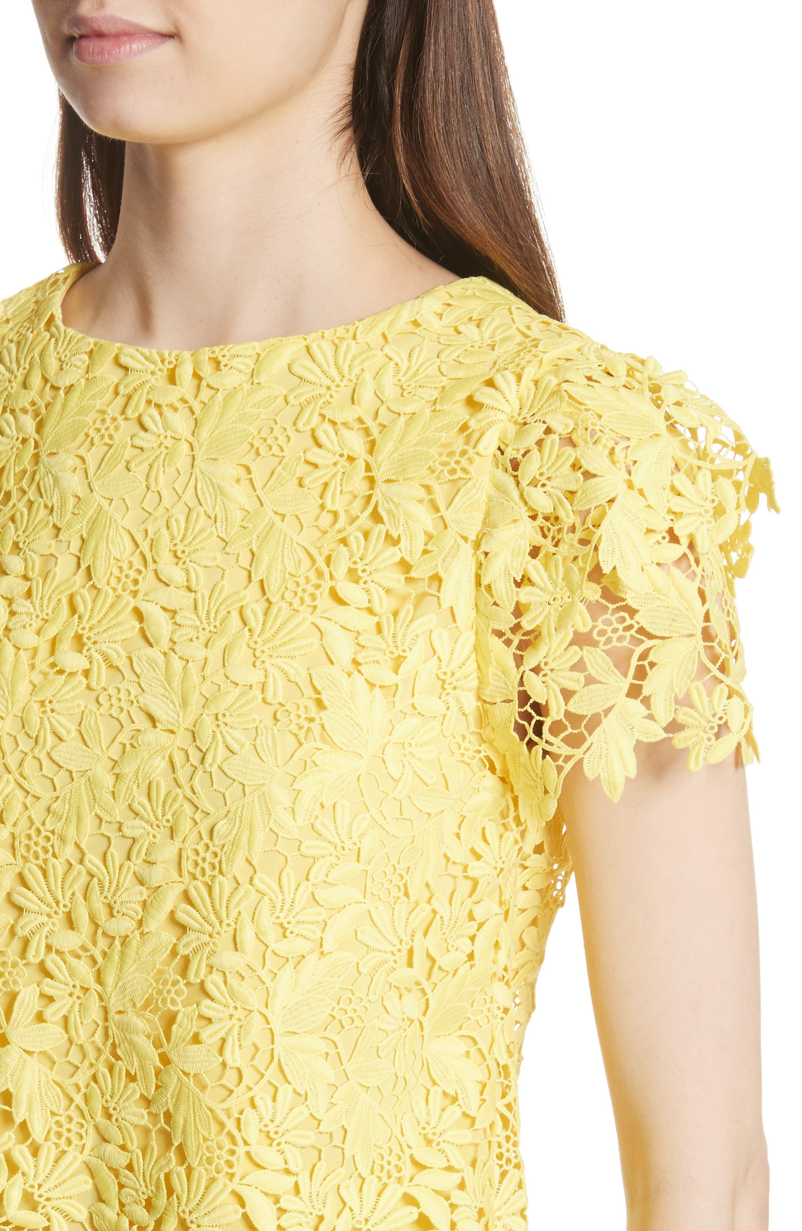 Franca Lace Top,                             Alternate thumbnail 4, color,                             Lemon