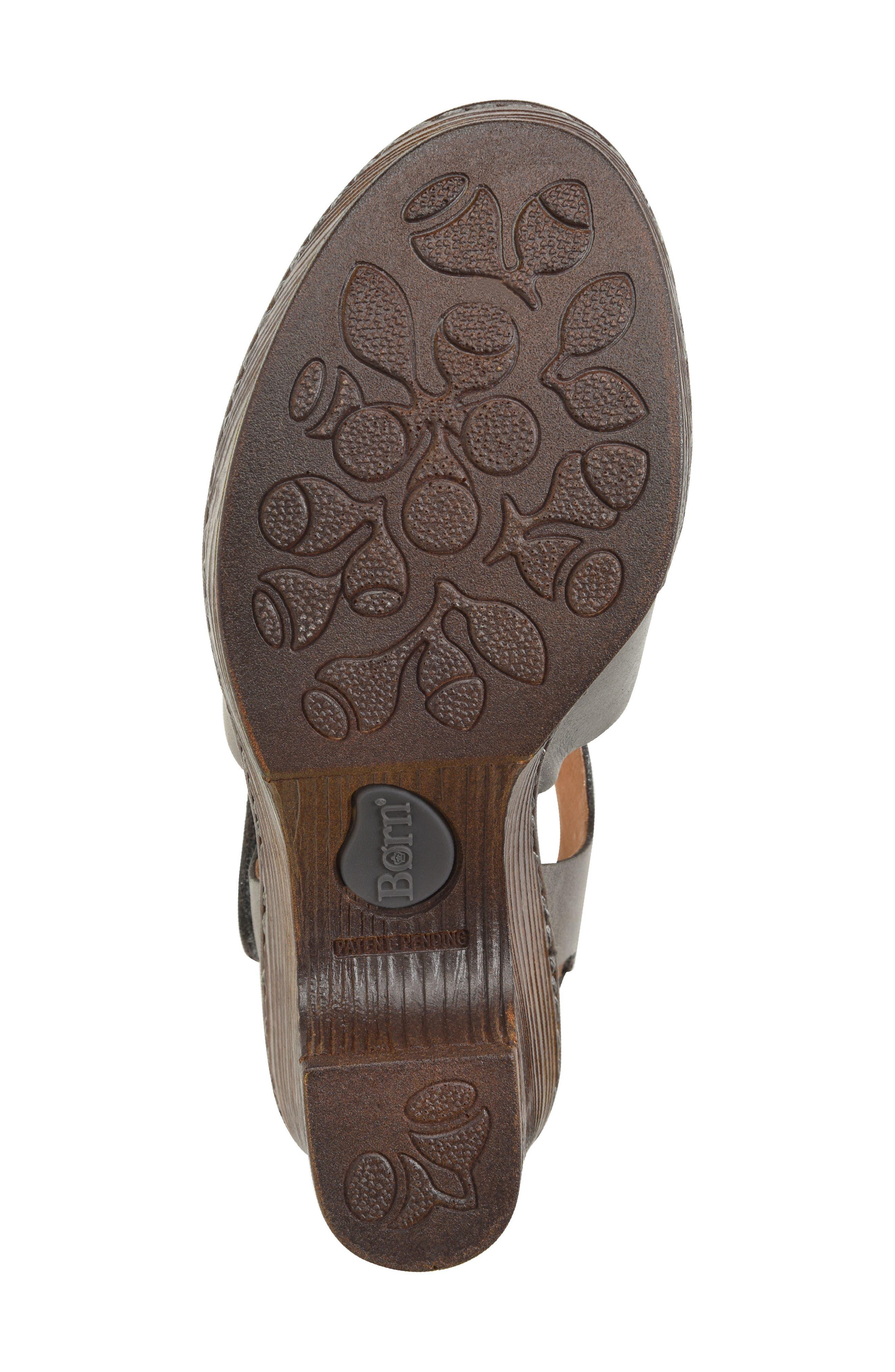 Canna Platform Sandal,                             Alternate thumbnail 6, color,                             Grey Leather