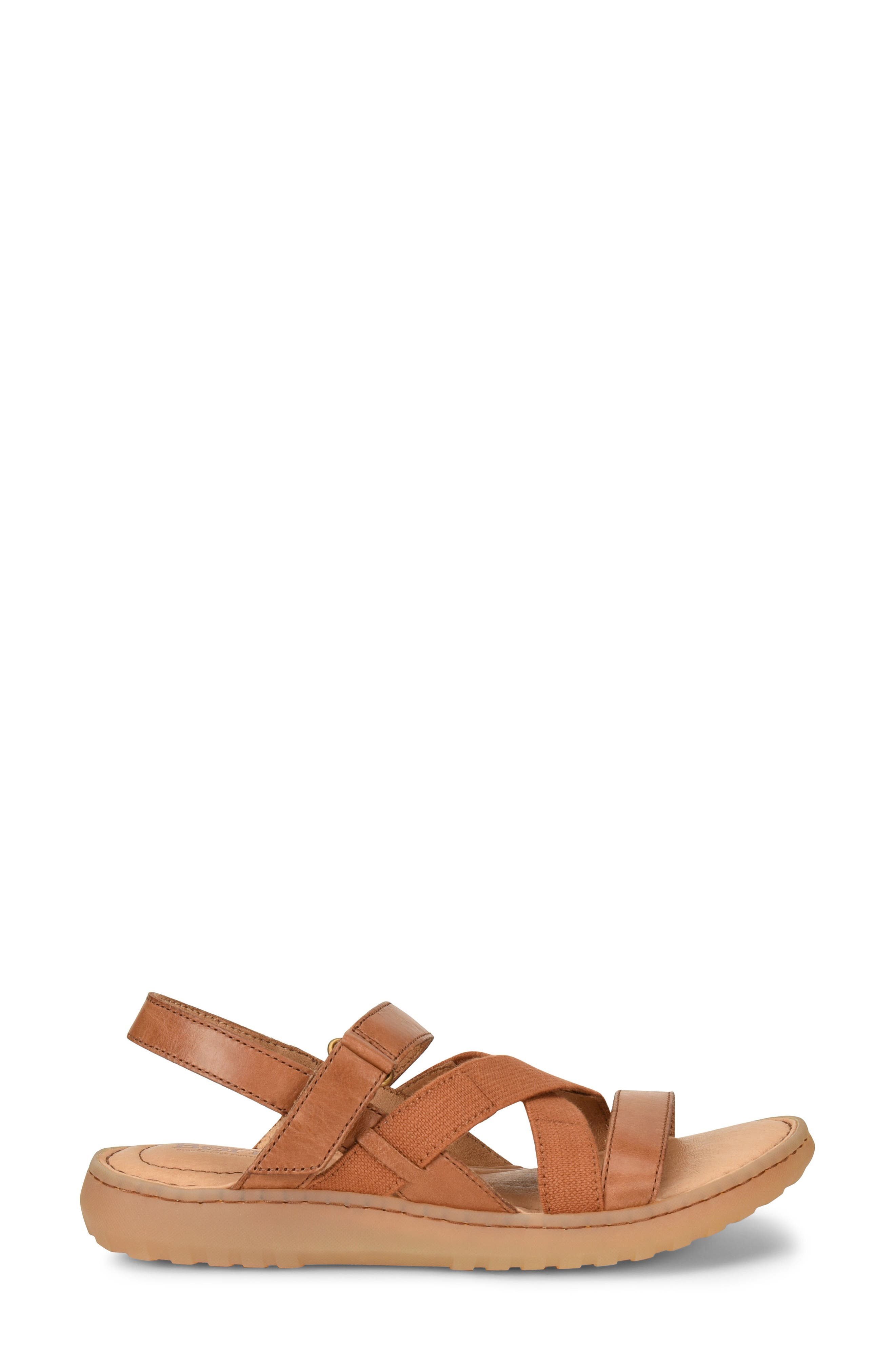 Manta Sandal,                             Alternate thumbnail 3, color,                             Brown Leather
